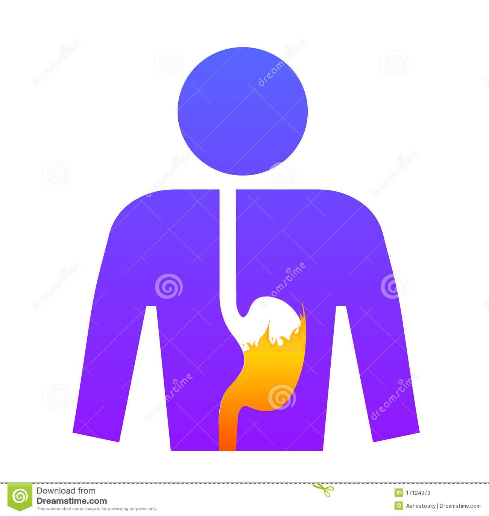 Homme avec l estomac de brûlures d estomac
