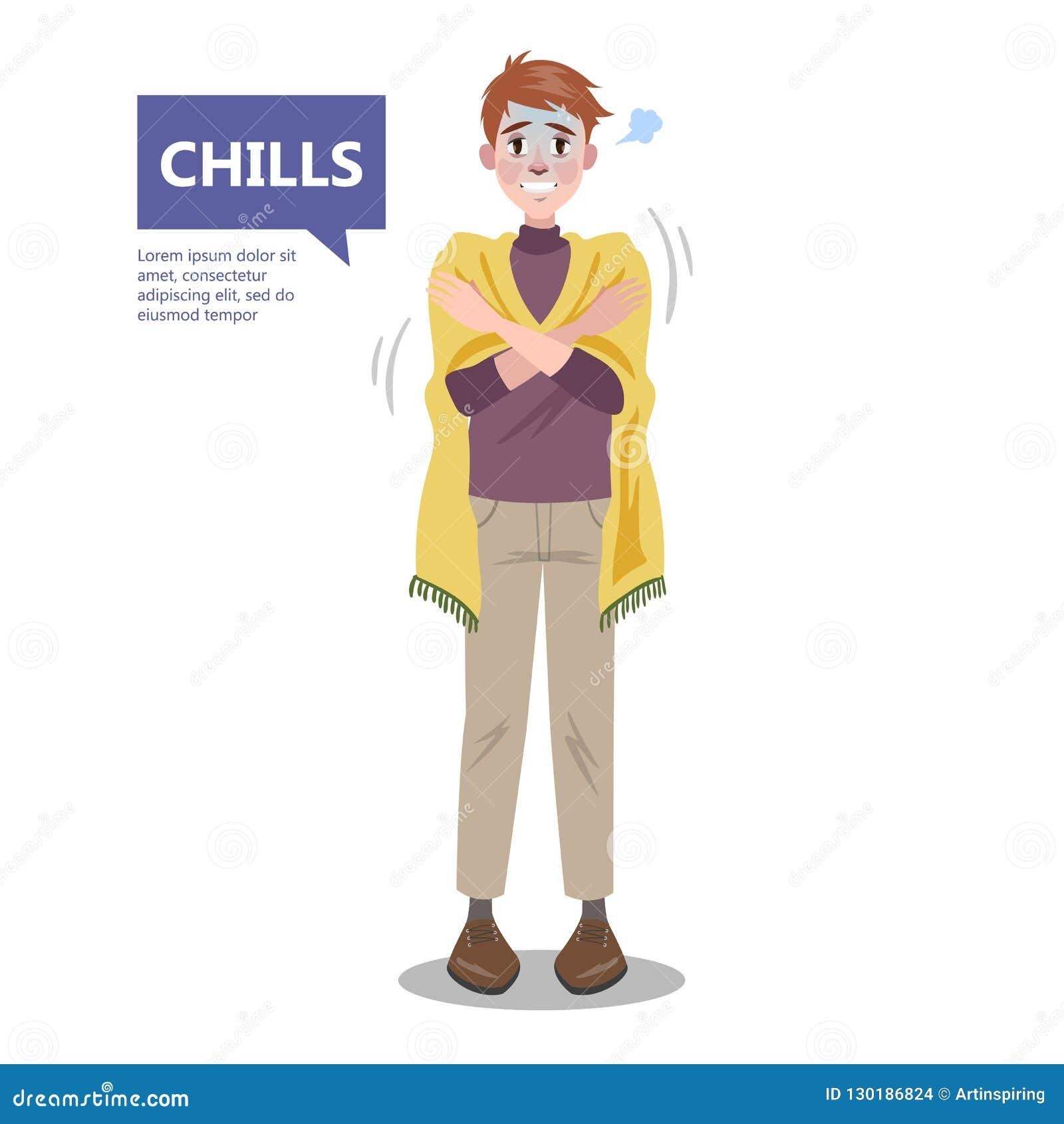 Homme avec un froid Symptôme de la maladie