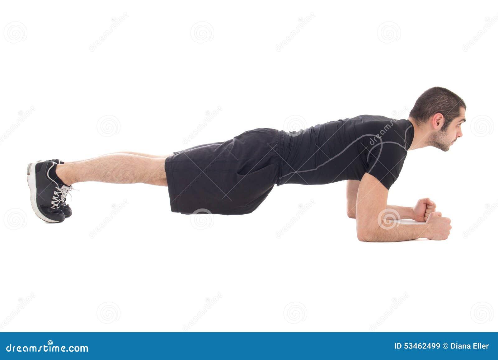 homme bel dans les v tements de sport faisant des exercices pour des muscles abdominaux. Black Bedroom Furniture Sets. Home Design Ideas