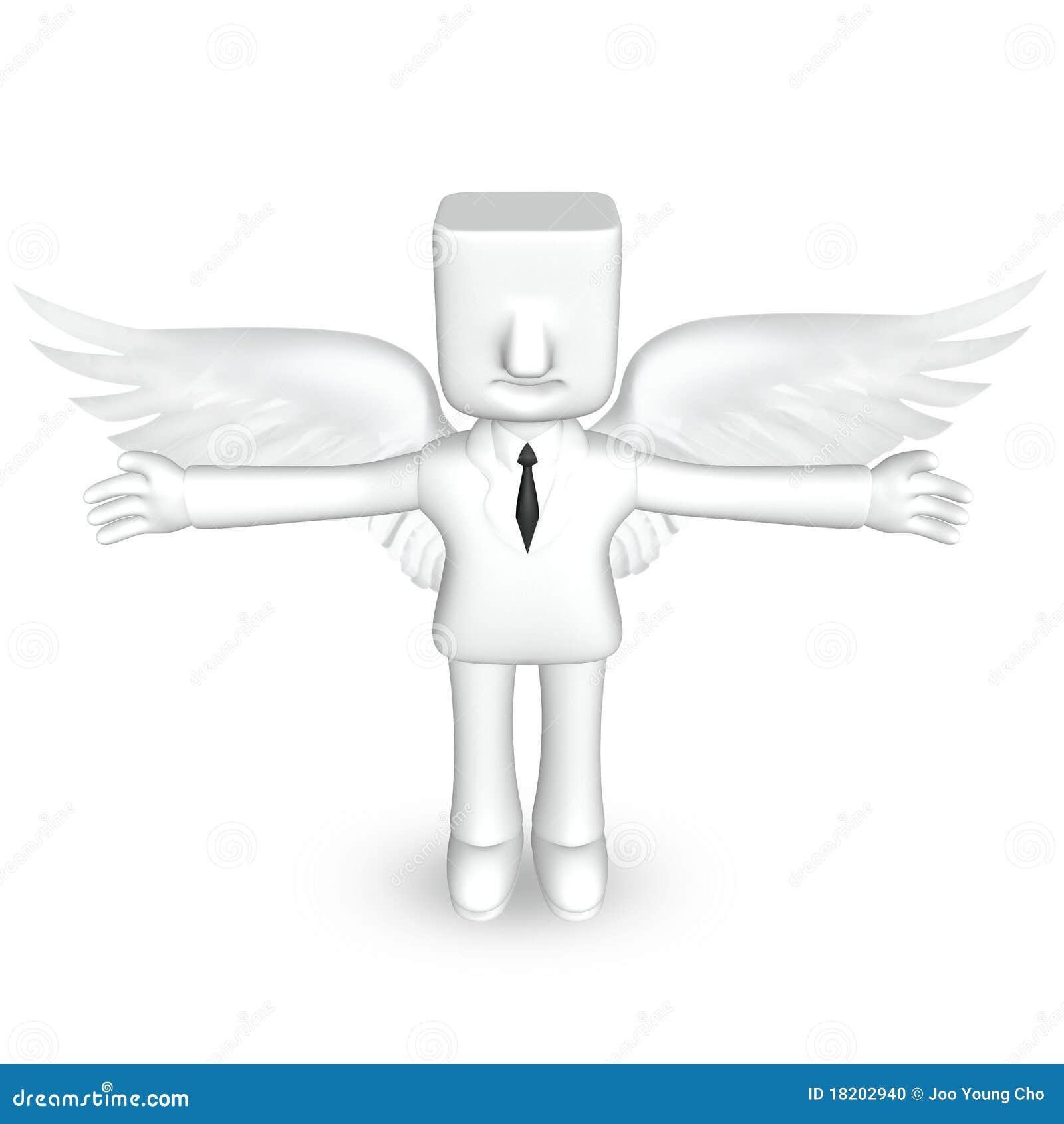 Homme cr ateur des affaires 3d avec des ailes photo stock for Createur 3d