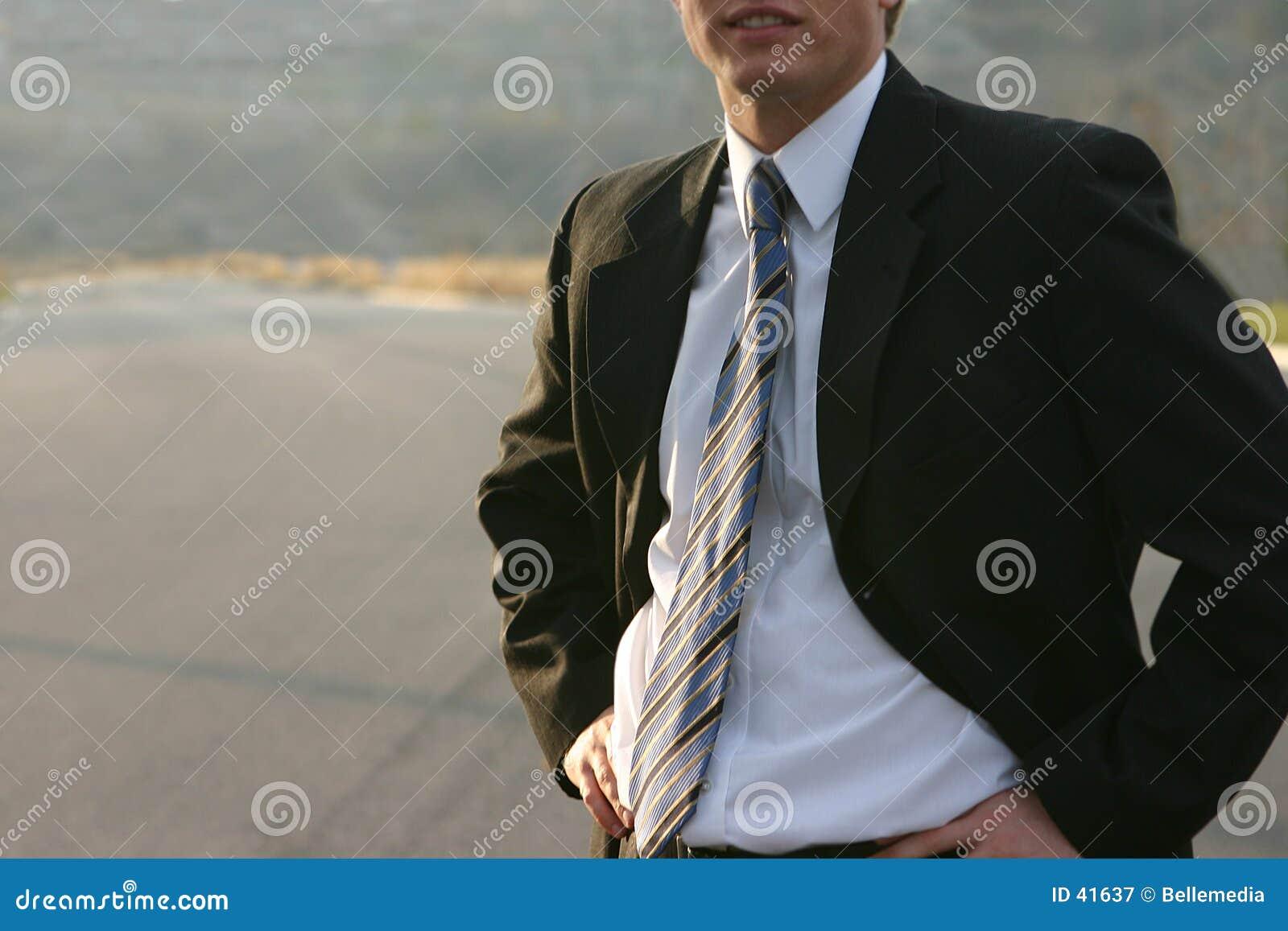 Homme d affaires à l extérieur