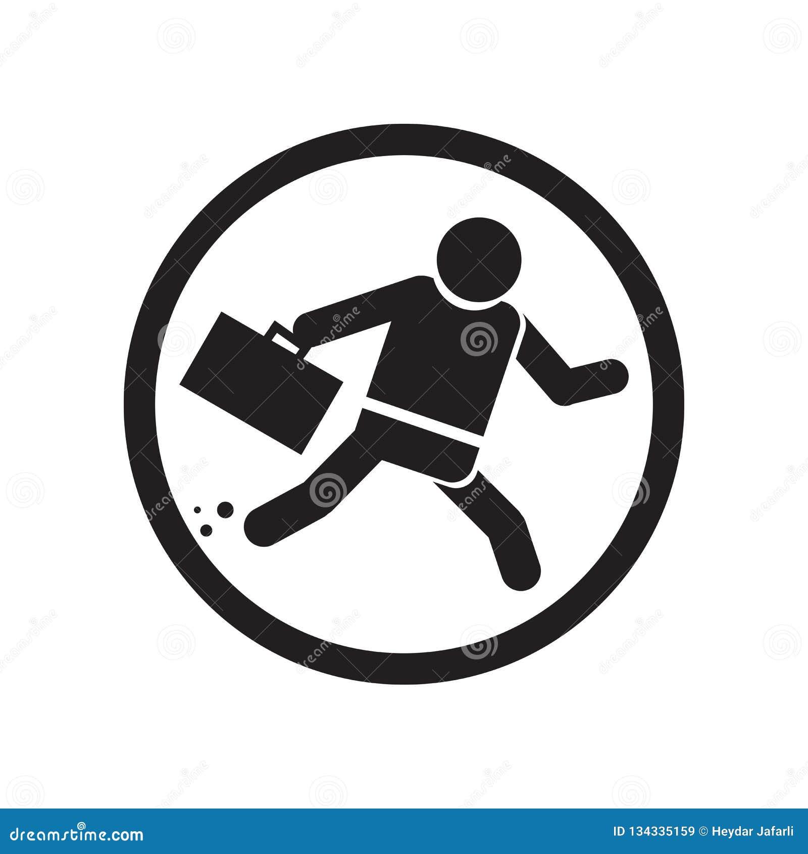 Homme d affaires à l intérieur d un signe et d un symbole de vecteur d icône de boule d isolement sur le fond blanc, homme d affa