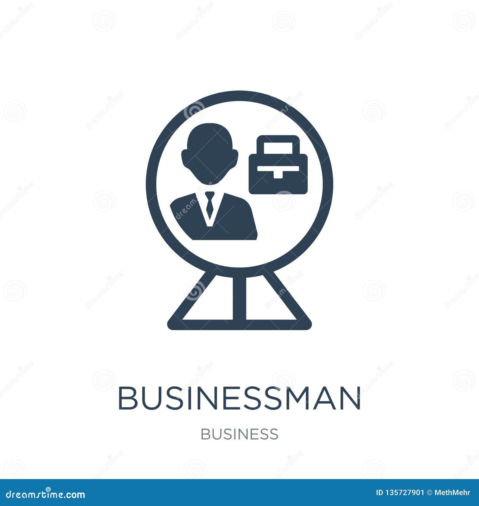 Homme d affaires à l intérieur d une icône de boule dans le style à la mode de conception homme d affaires à l intérieur d une ic
