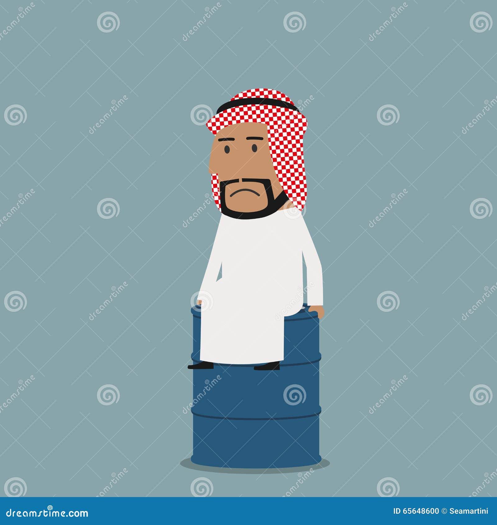 Homme d affaires Arabe triste sur le réservoir de stockage de pétrole