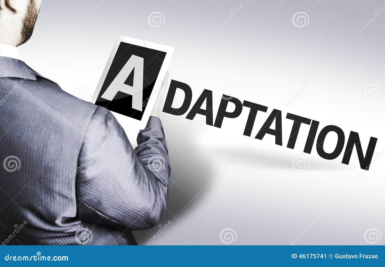 Homme d affaires avec l adaptation des textes dans une image de concept