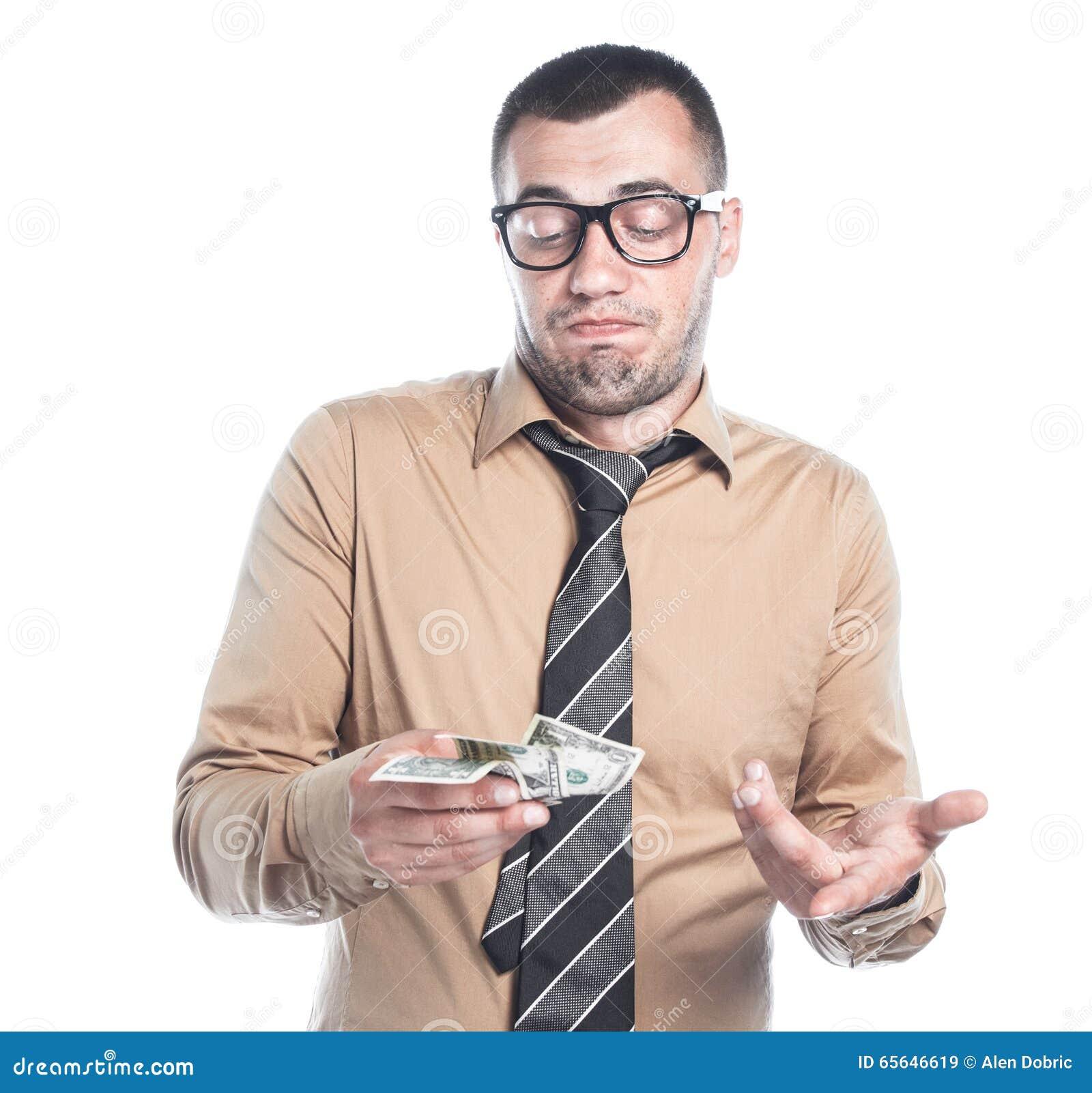 Homme d affaires avec l argent