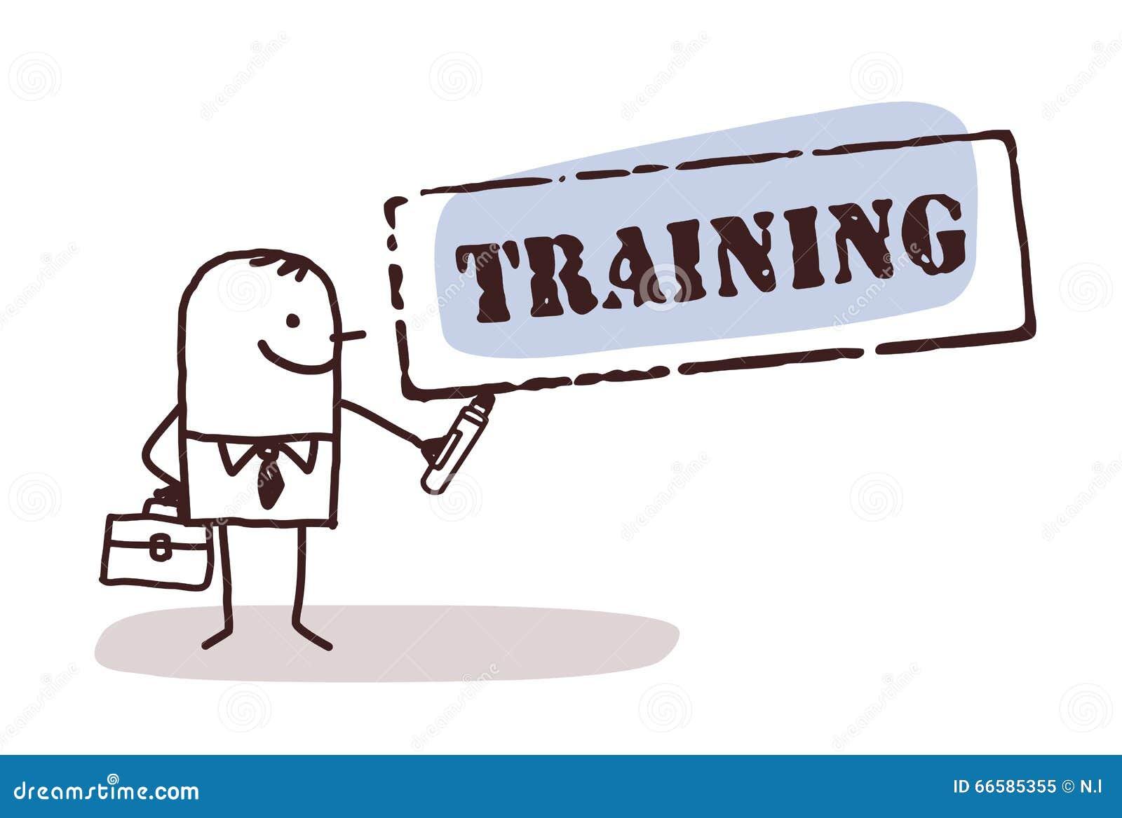 Homme d affaires avec le signe de formation