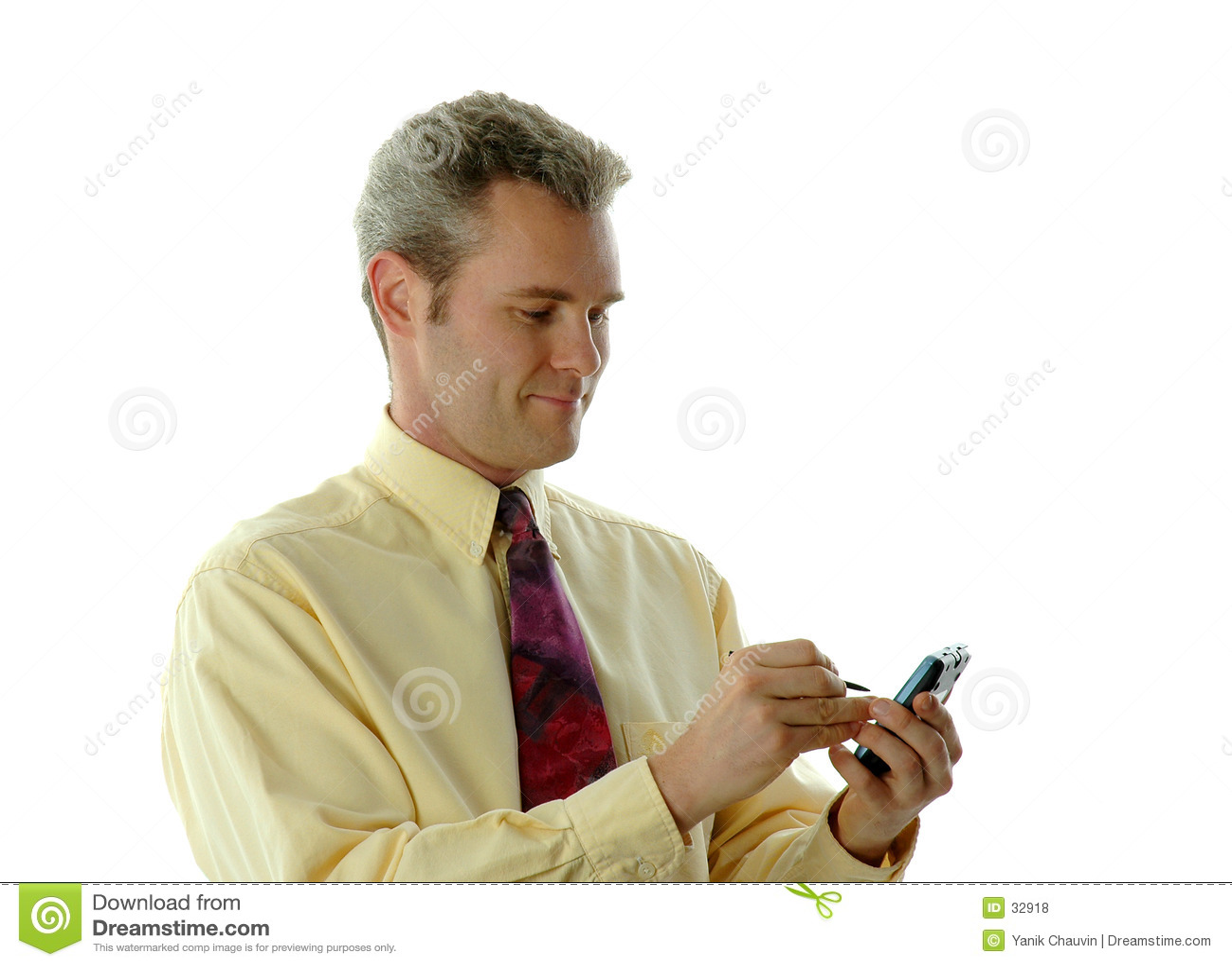 Homme d affaires avec PDA