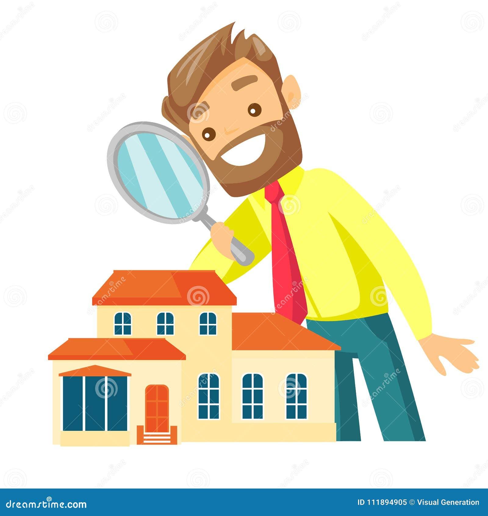 Homme d affaires blanc caucasien recherchant la maison