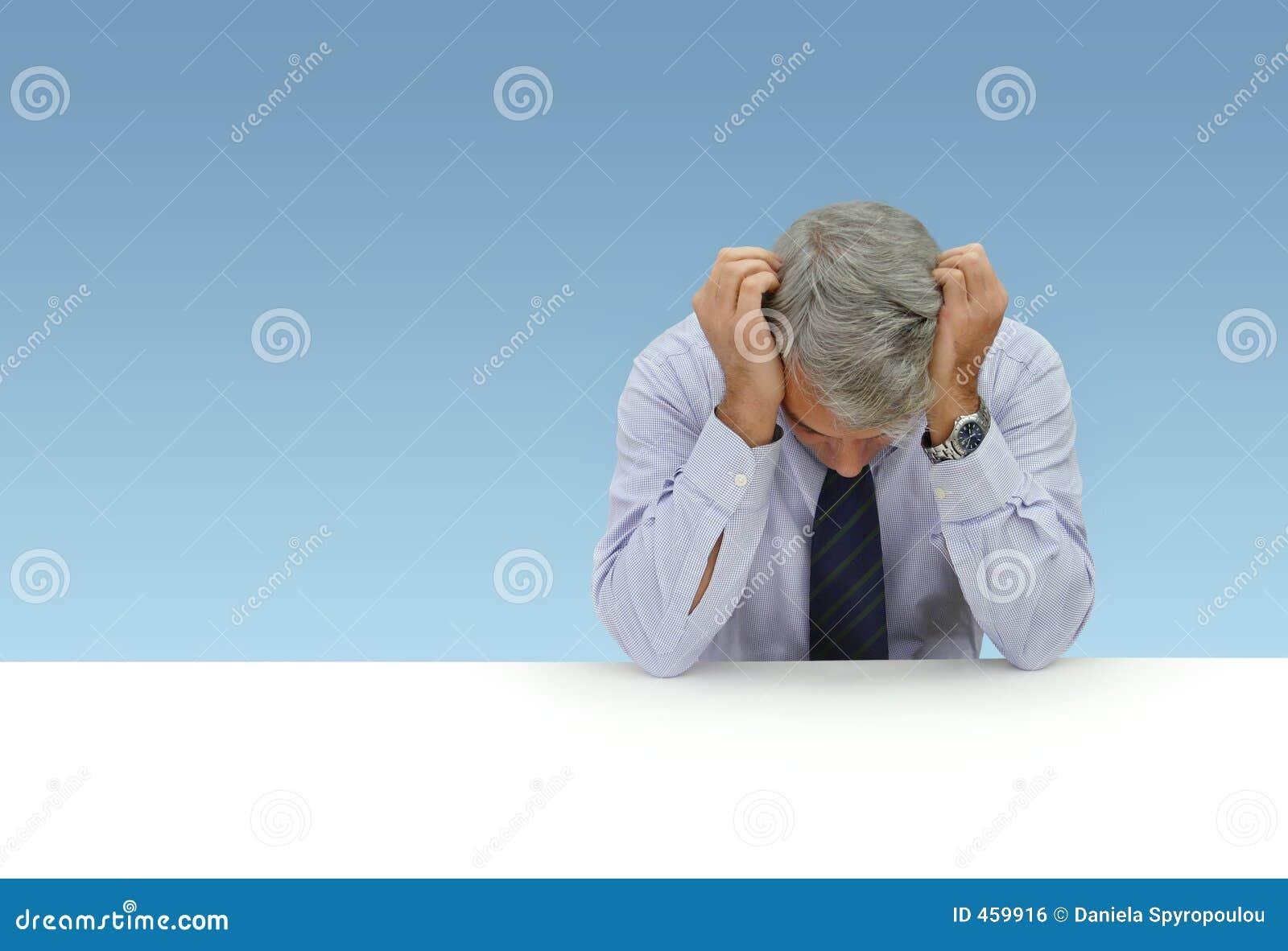 Homme d affaires déprimé