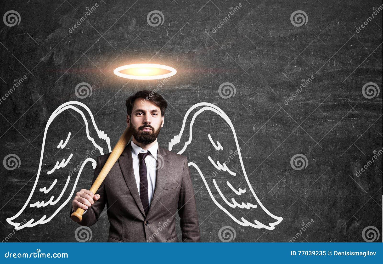 Image D Ange Homme homme d'affaires d'ange image stock. image du vide, tombé - 77039235