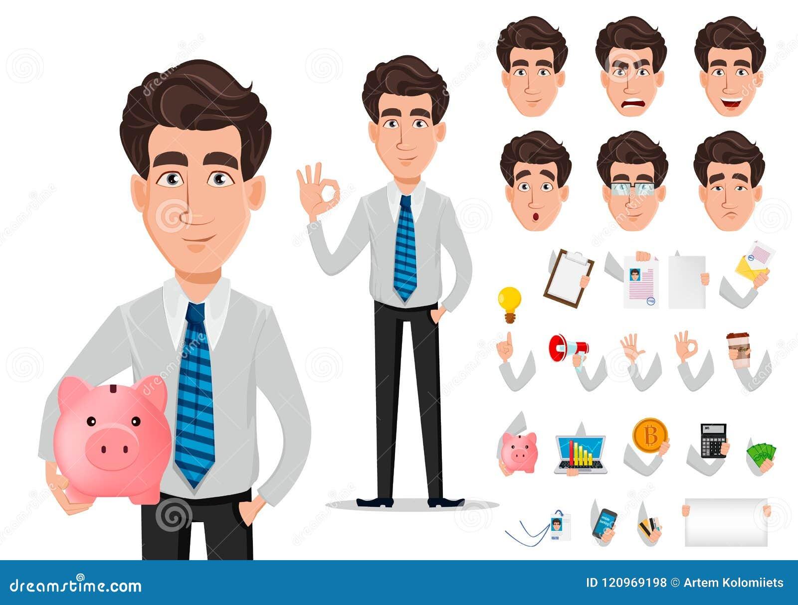 Homme d affaires dans des vêtements de style de bureau