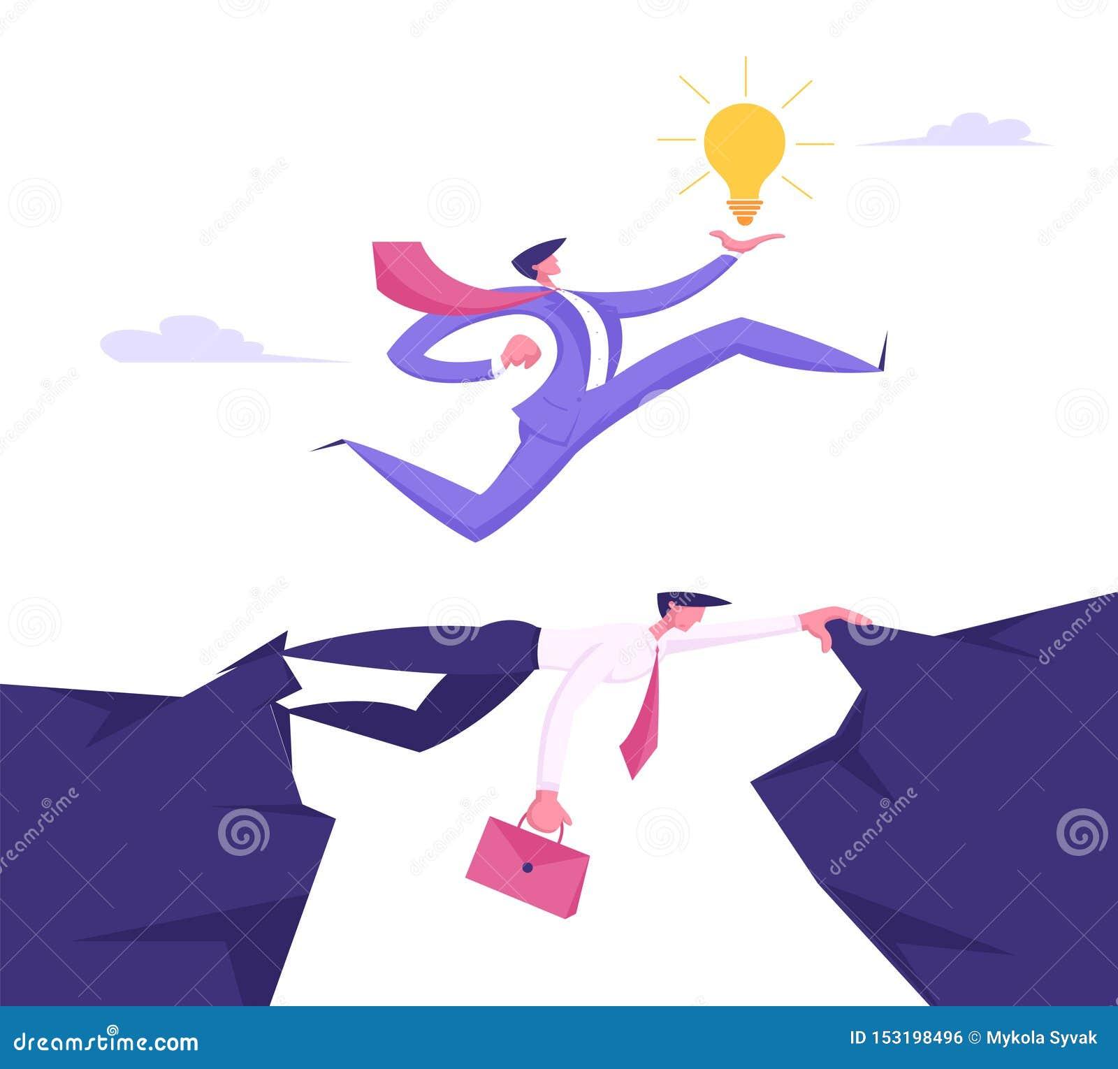 Homme d affaires dans le costume formel avec des frais généraux courants rougeoyants d ampoule à disposition d homme d affaires C
