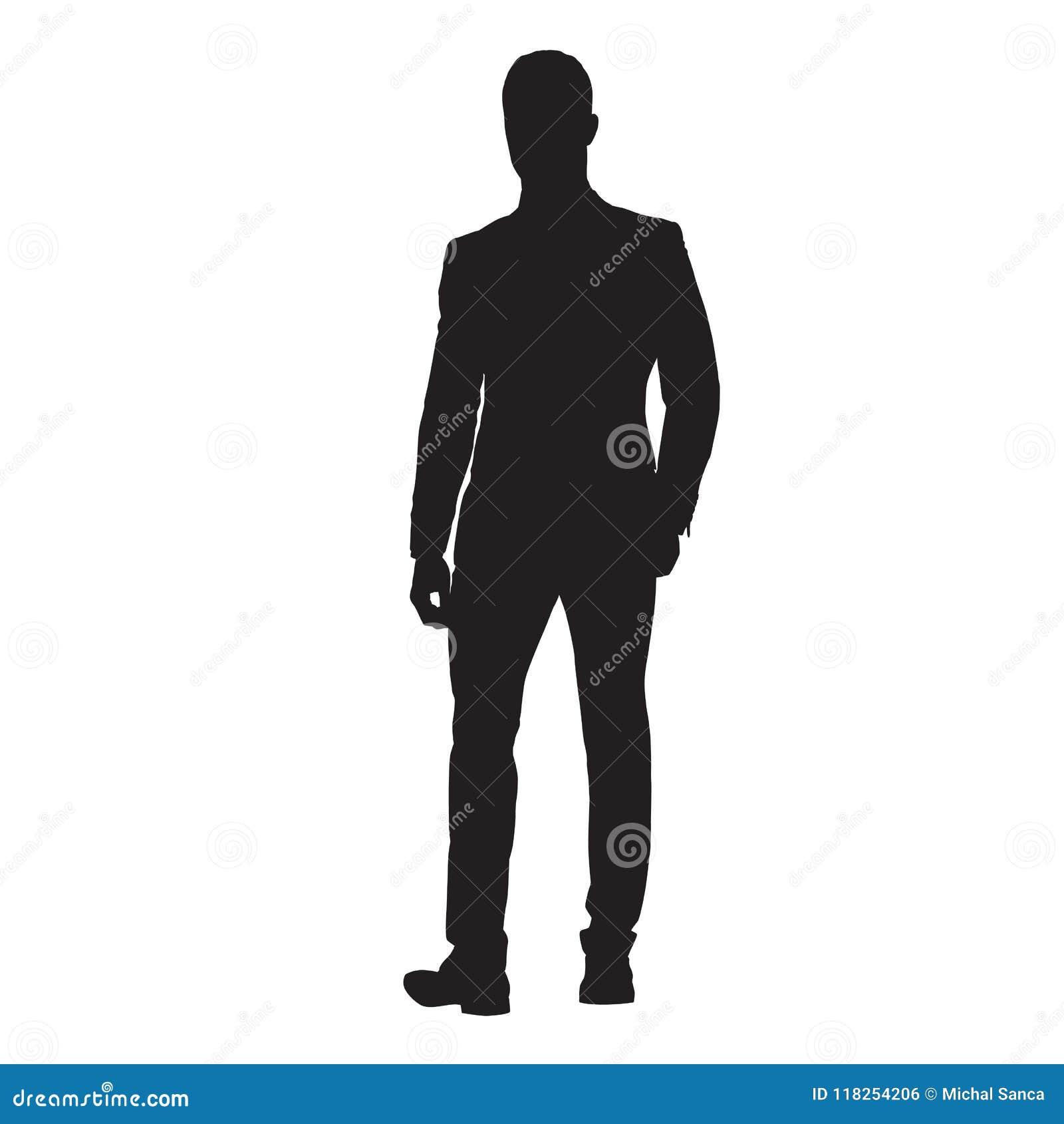 Homme d affaires dans le costume marchant en avant, silhouette d isolement de vecteur