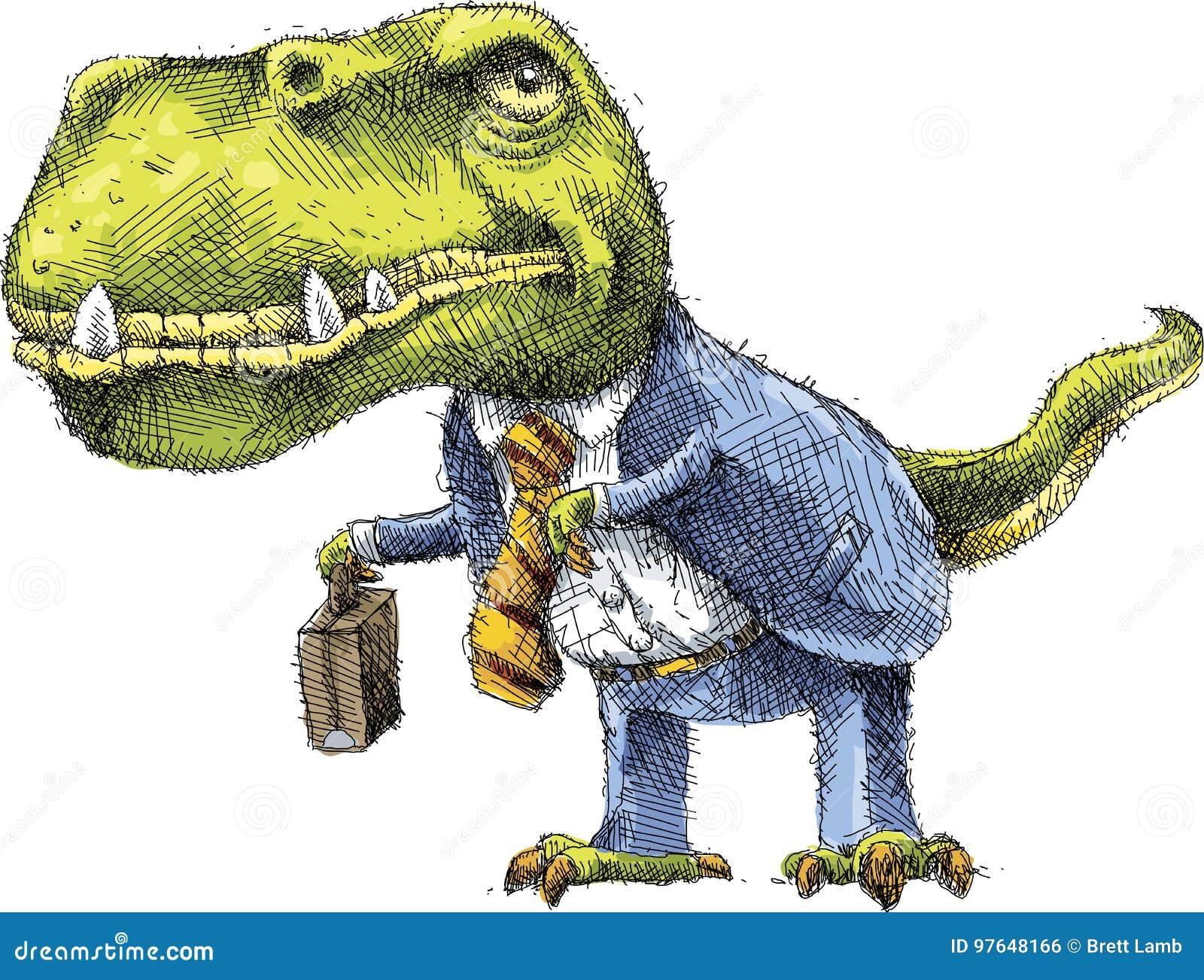 L'HUMANITÉ CONTRE LE VIVANT ? ET LE CAPITAL ? Homme-d-affaires-de-dinosaure-97648166