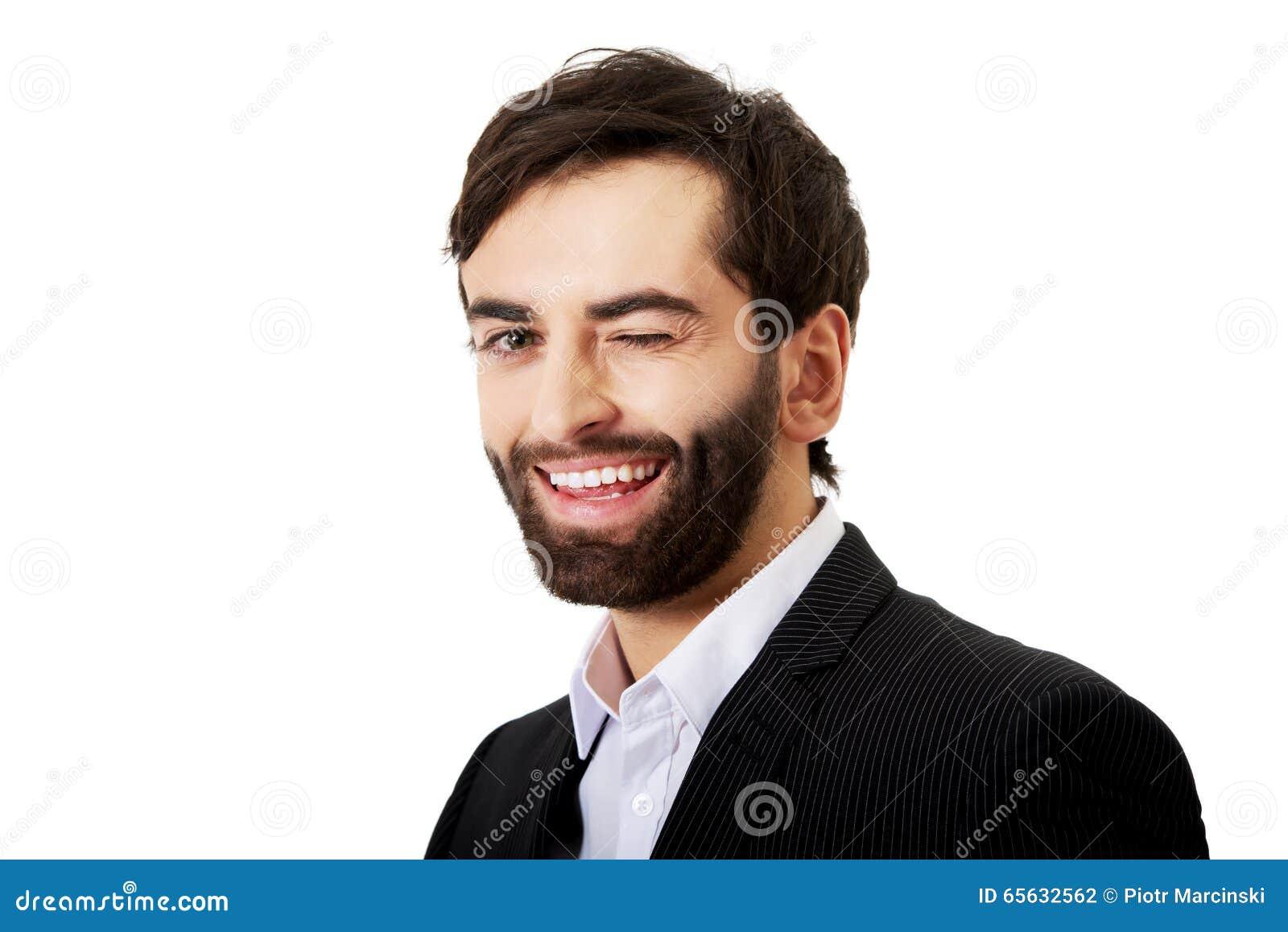 Homme d affaires de sourire bel