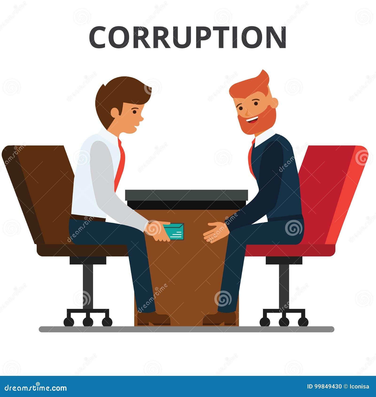 Homme d affaires donnant l argent de paiement illicite