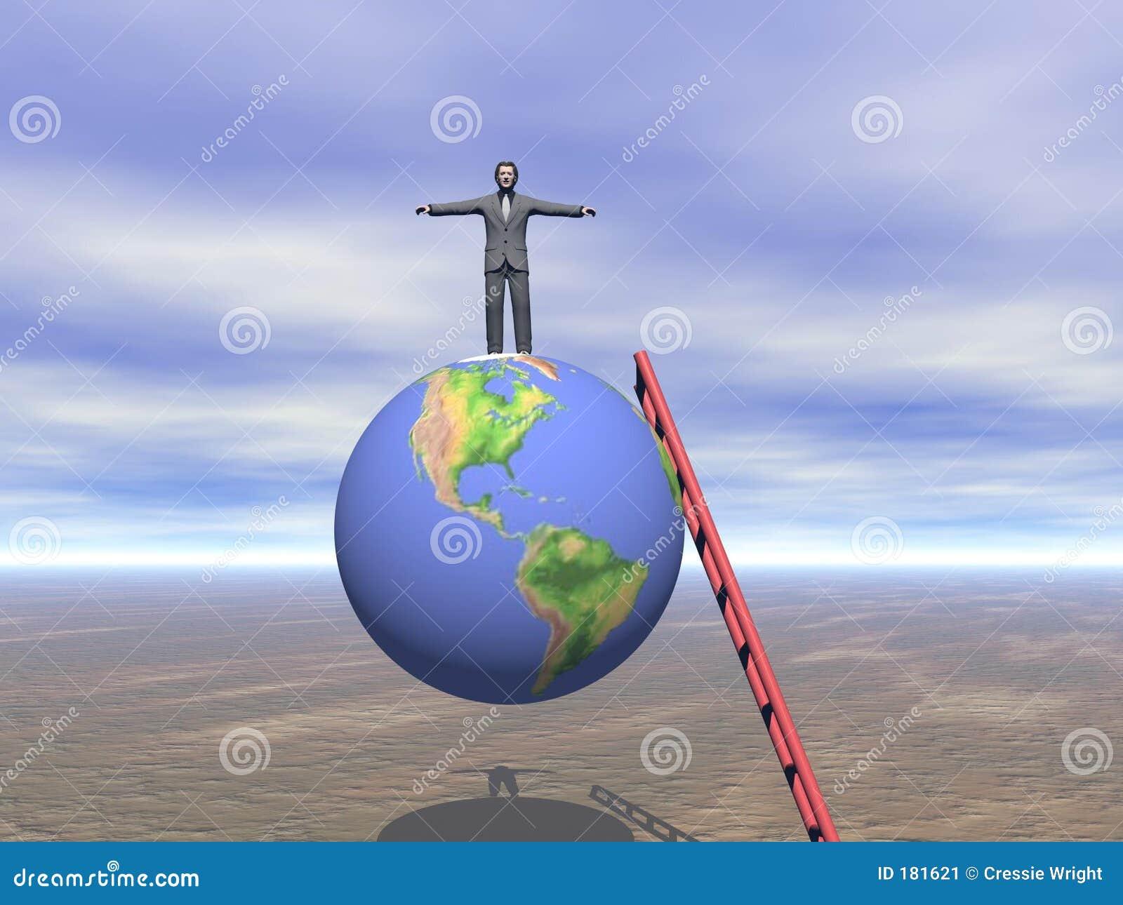 Homme d affaires du dessus du monde