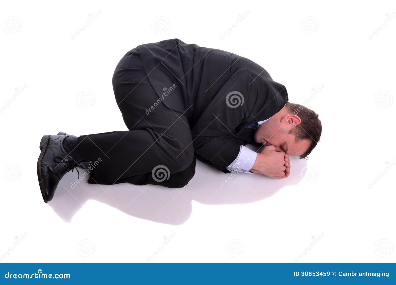 Homme D Affaires En Position Foetale Image Stock Image