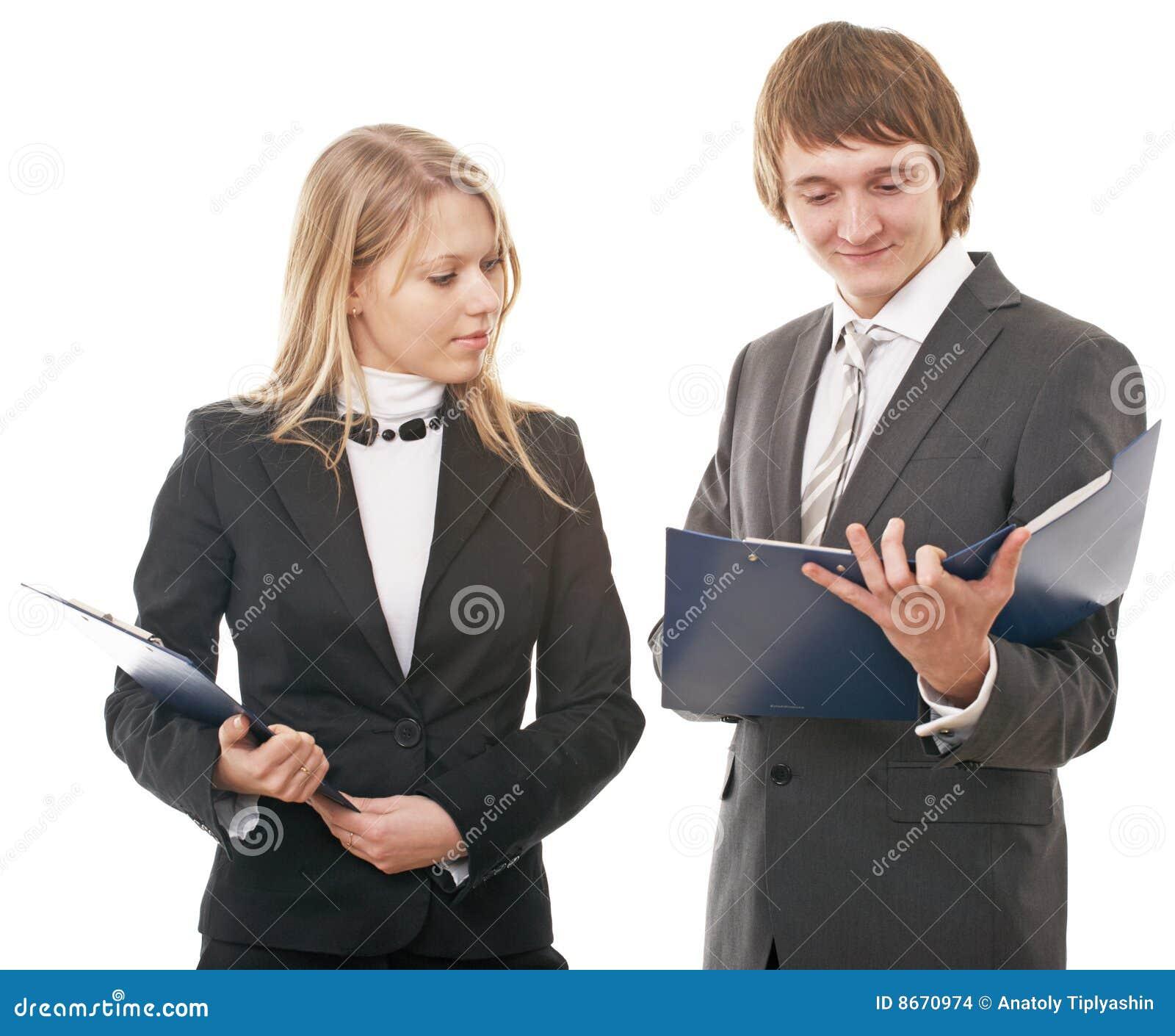 Homme d affaires et femme d affaires