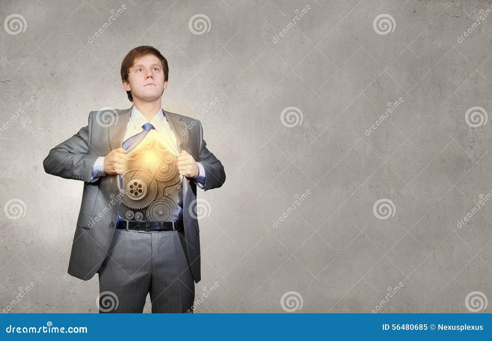 Homme d affaires et idée