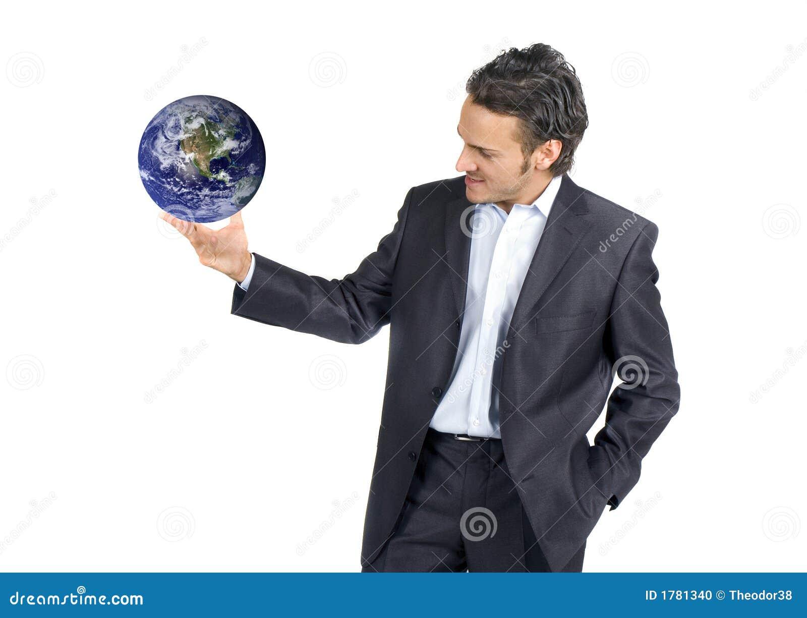 Homme d affaires et monde