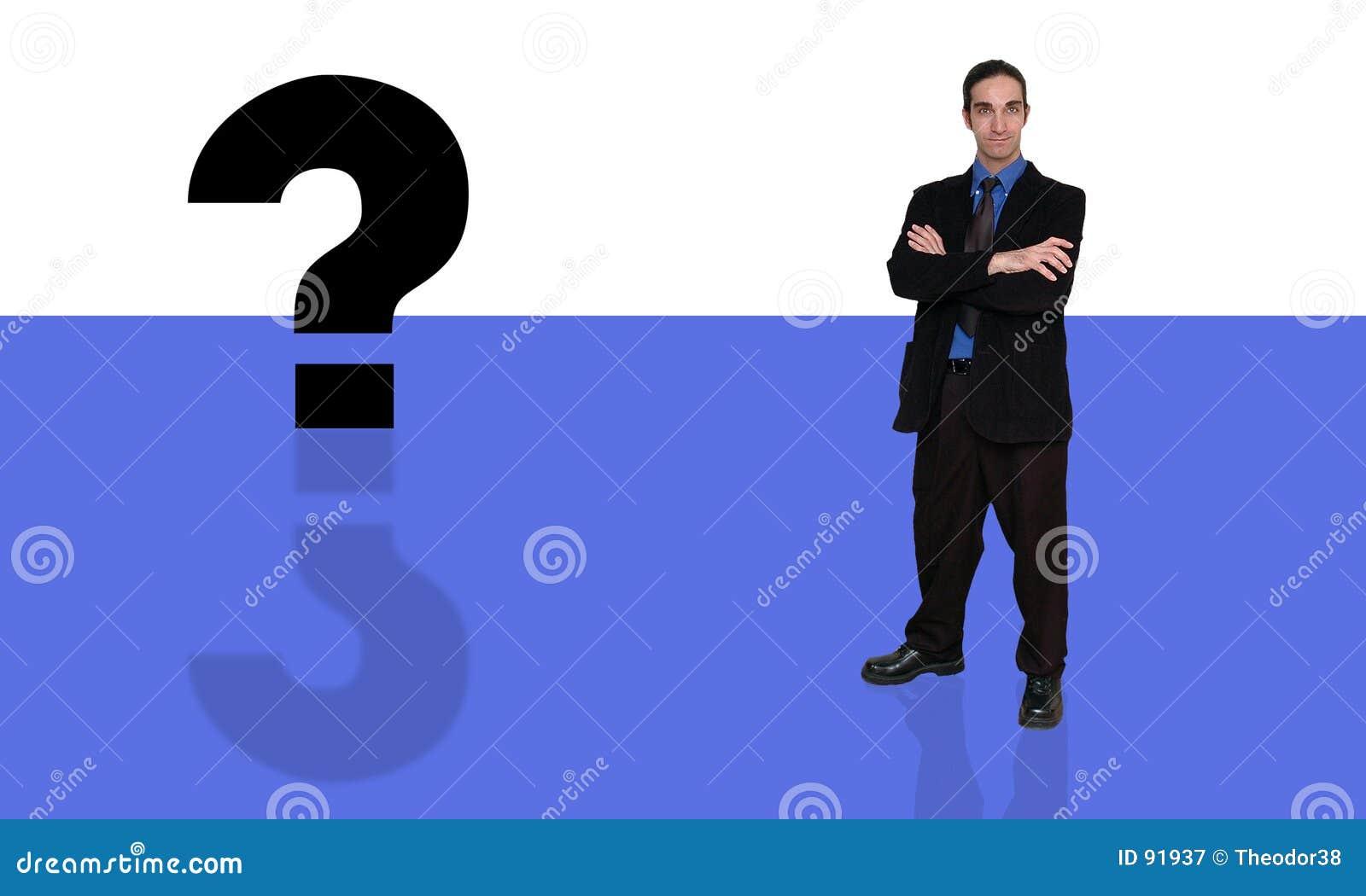 Homme d affaires et question-10