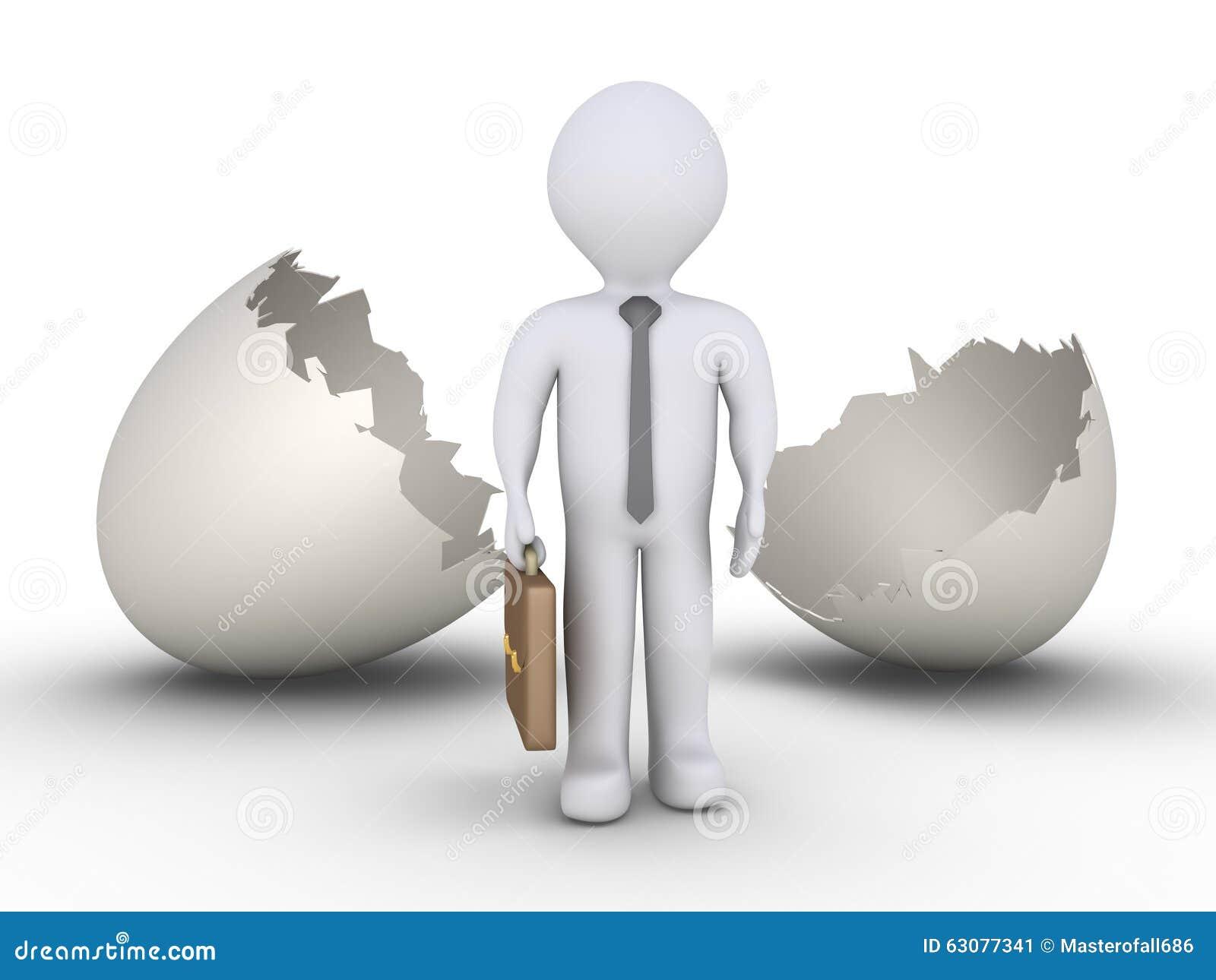 Download Homme D'affaires Hors D'oeuf Illustration Stock - Illustration du métier, accroissement: 63077341