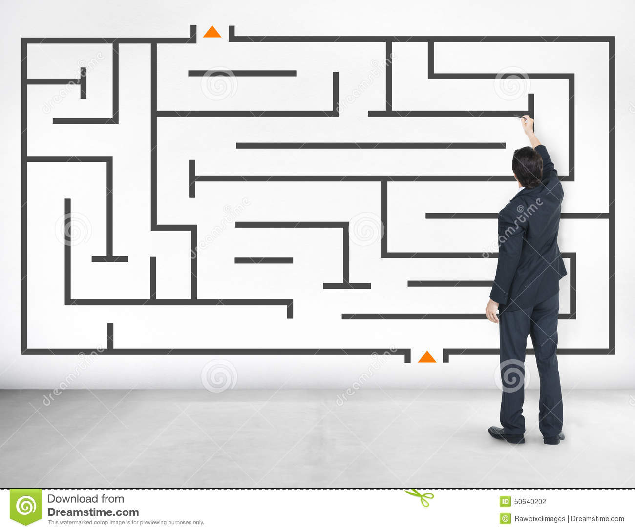 Homme d affaires Maze Problem Solving Solution