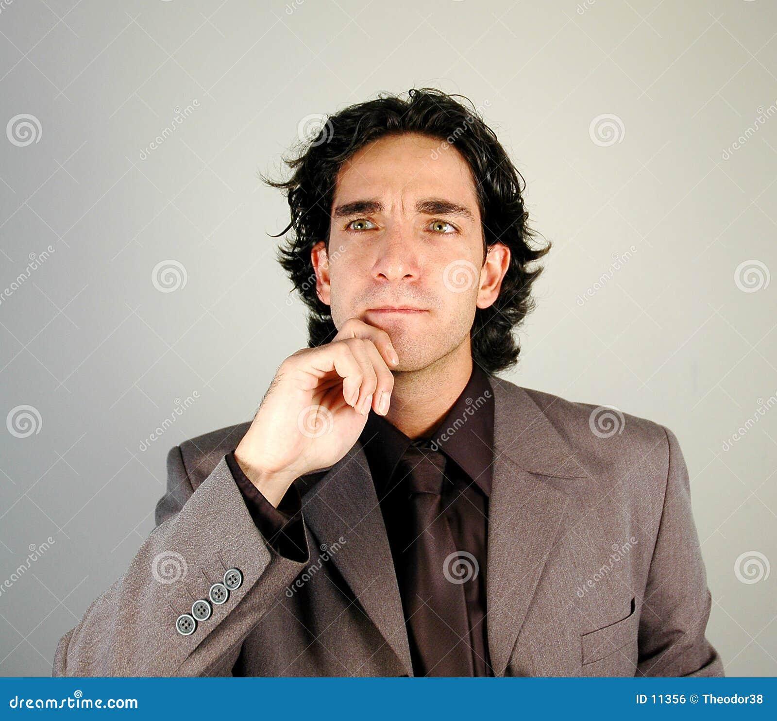 Homme d affaires pensant
