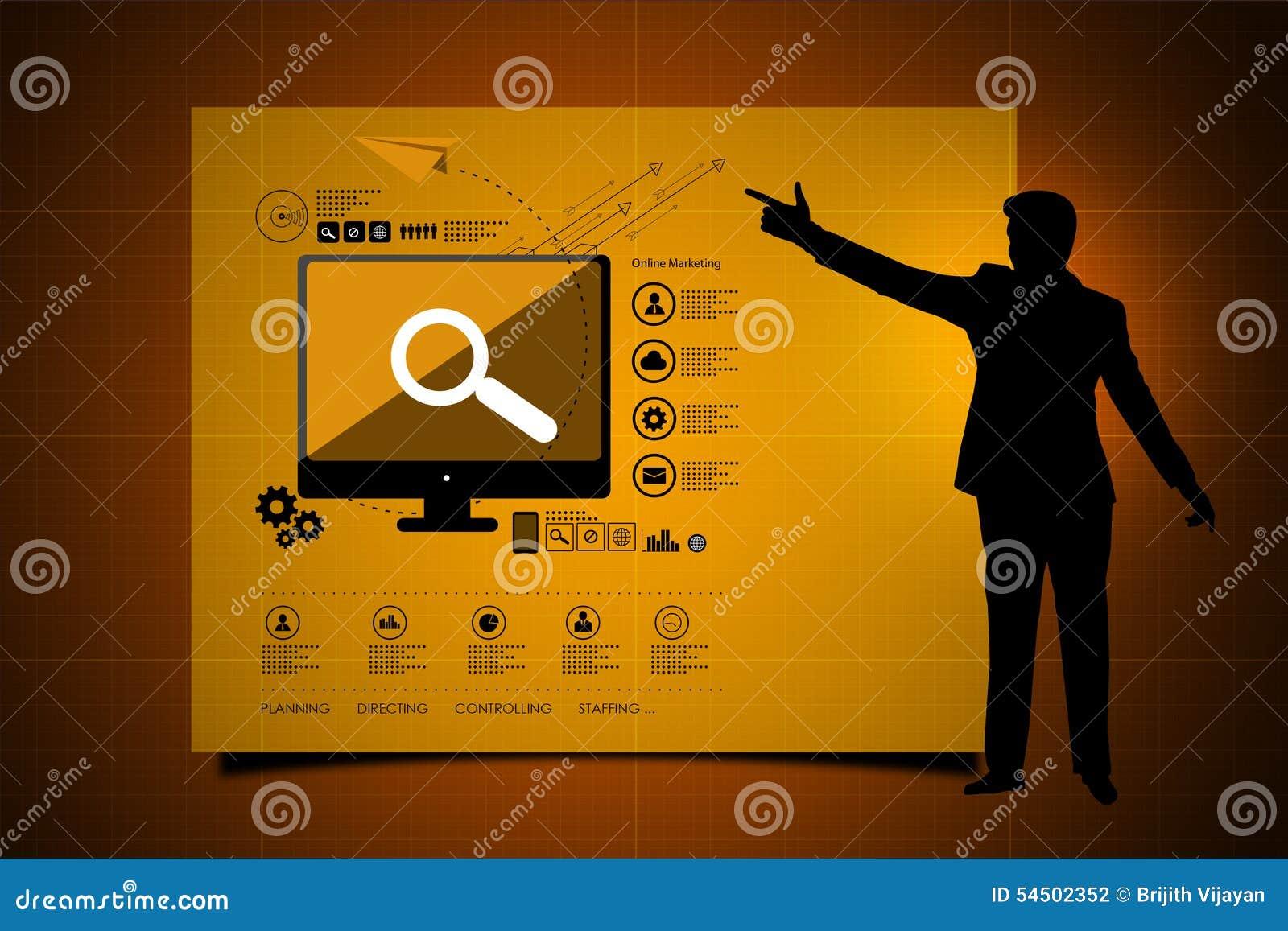 Homme d affaires portant le diagramme