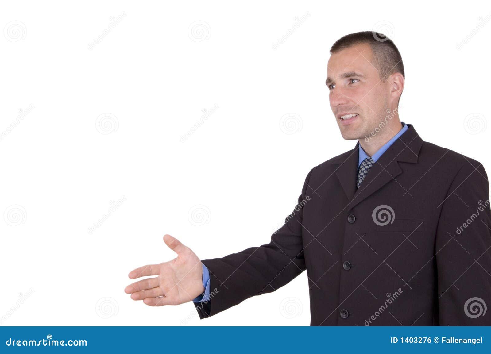 Homme d affaires prêt à se serrer la main