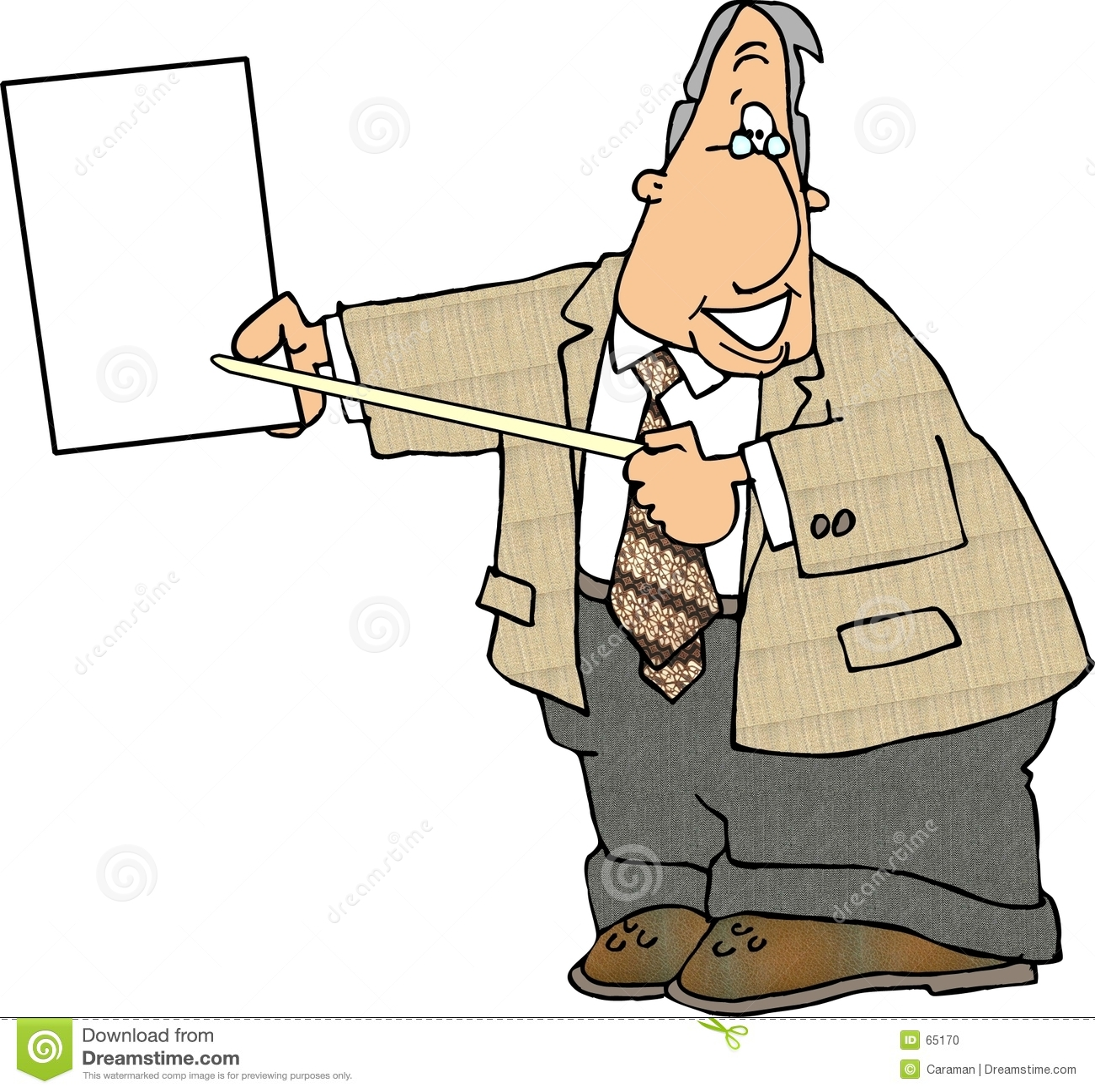 Download Homme D'affaires Retenant Un Papier Blanc Illustration Stock - Illustration du affaires, plaquette: 65170