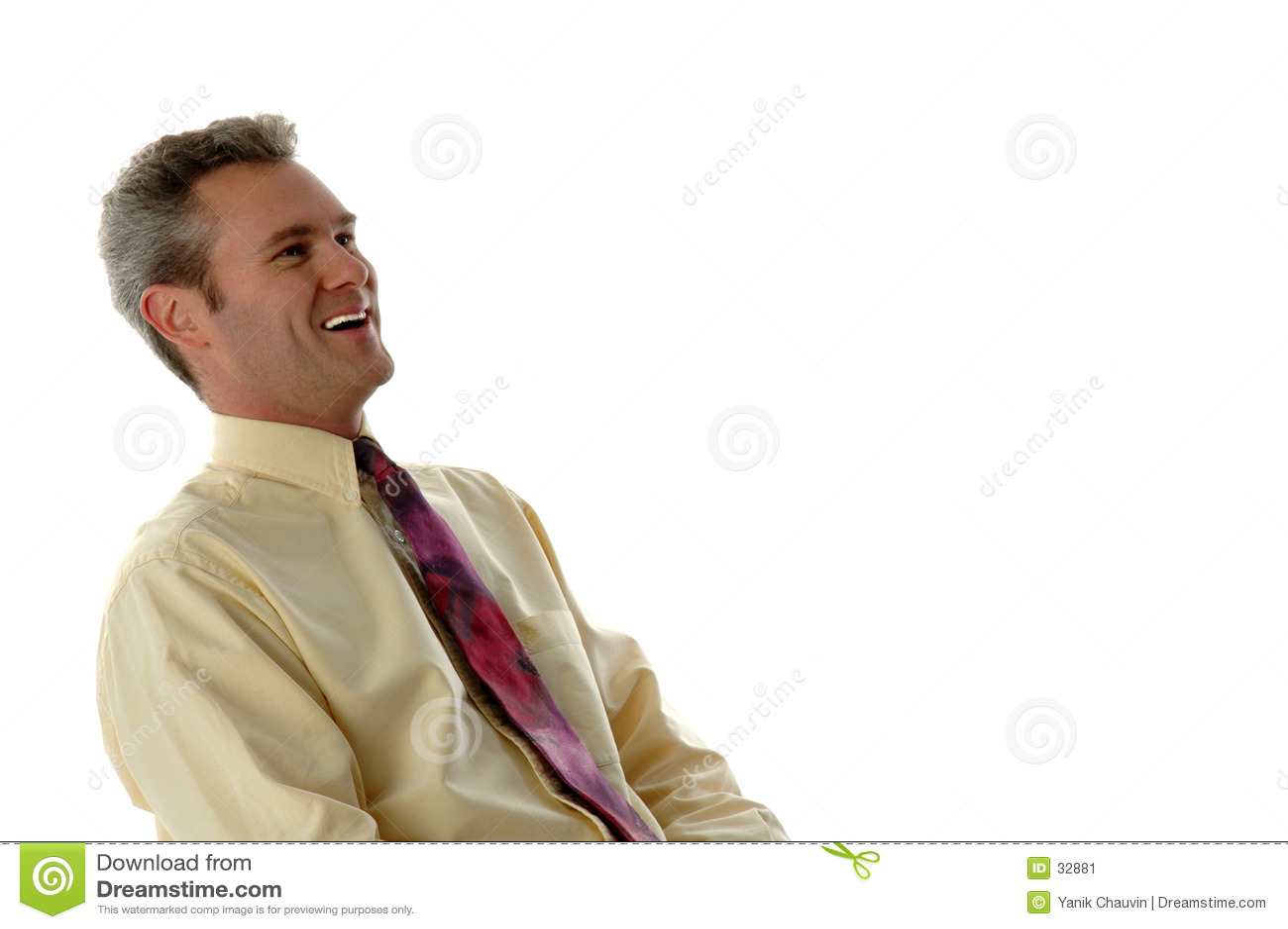 Homme d affaires riant