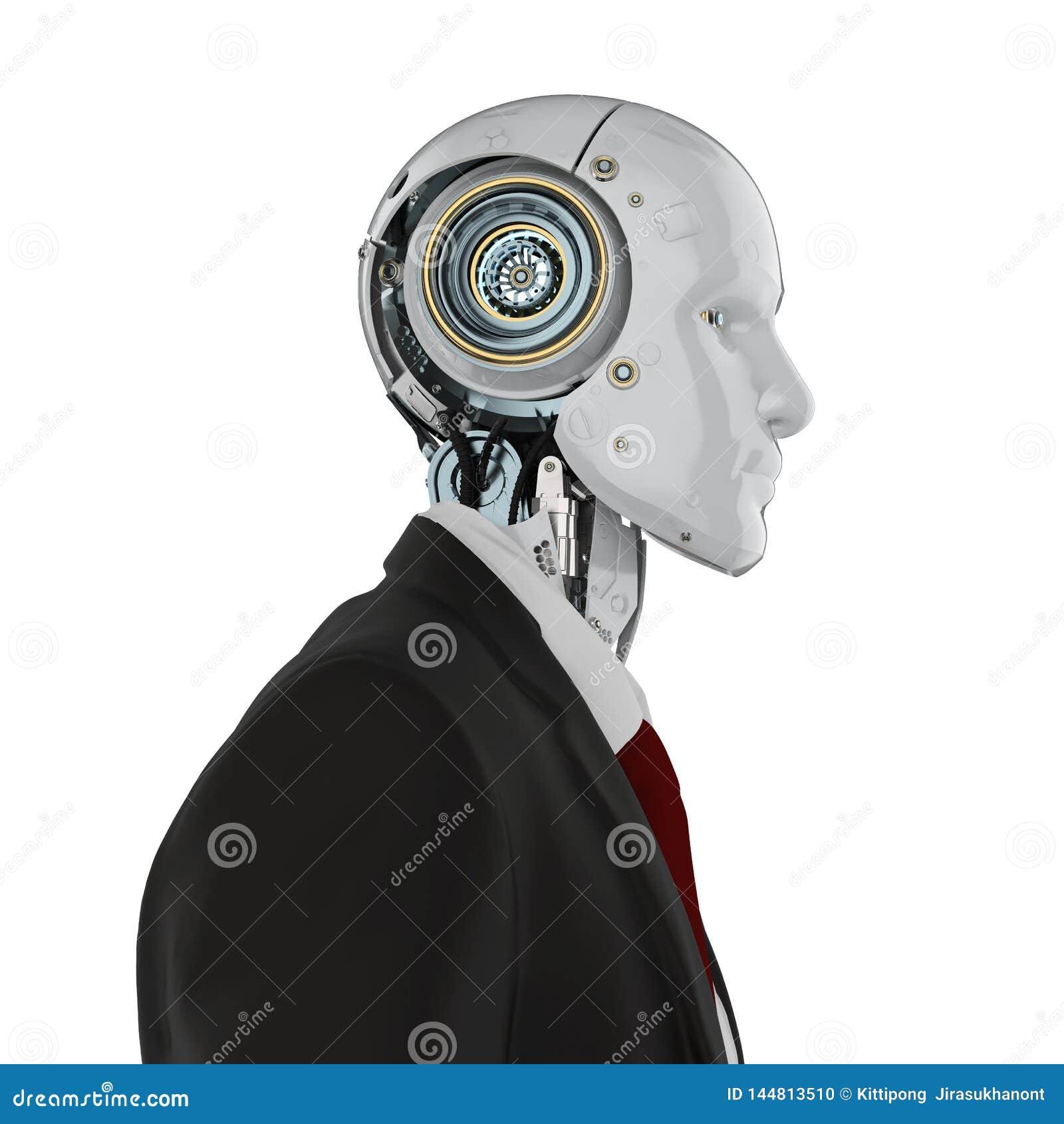 Homme d affaires robotique d isolement