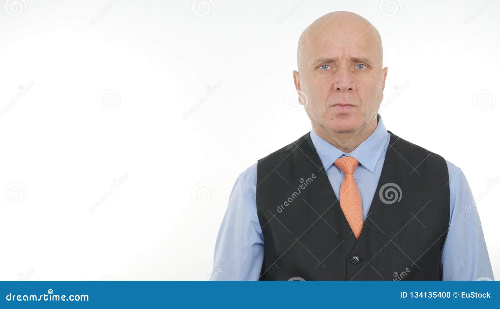 Homme d affaires sûr Image Representing une gestion d entreprise