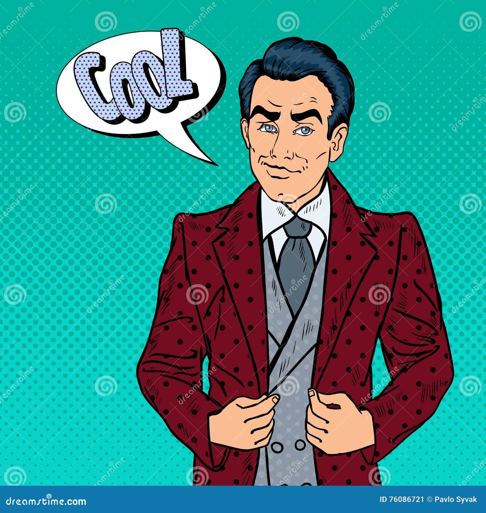 Homme d affaires sûr bel Portrait Art de bruit