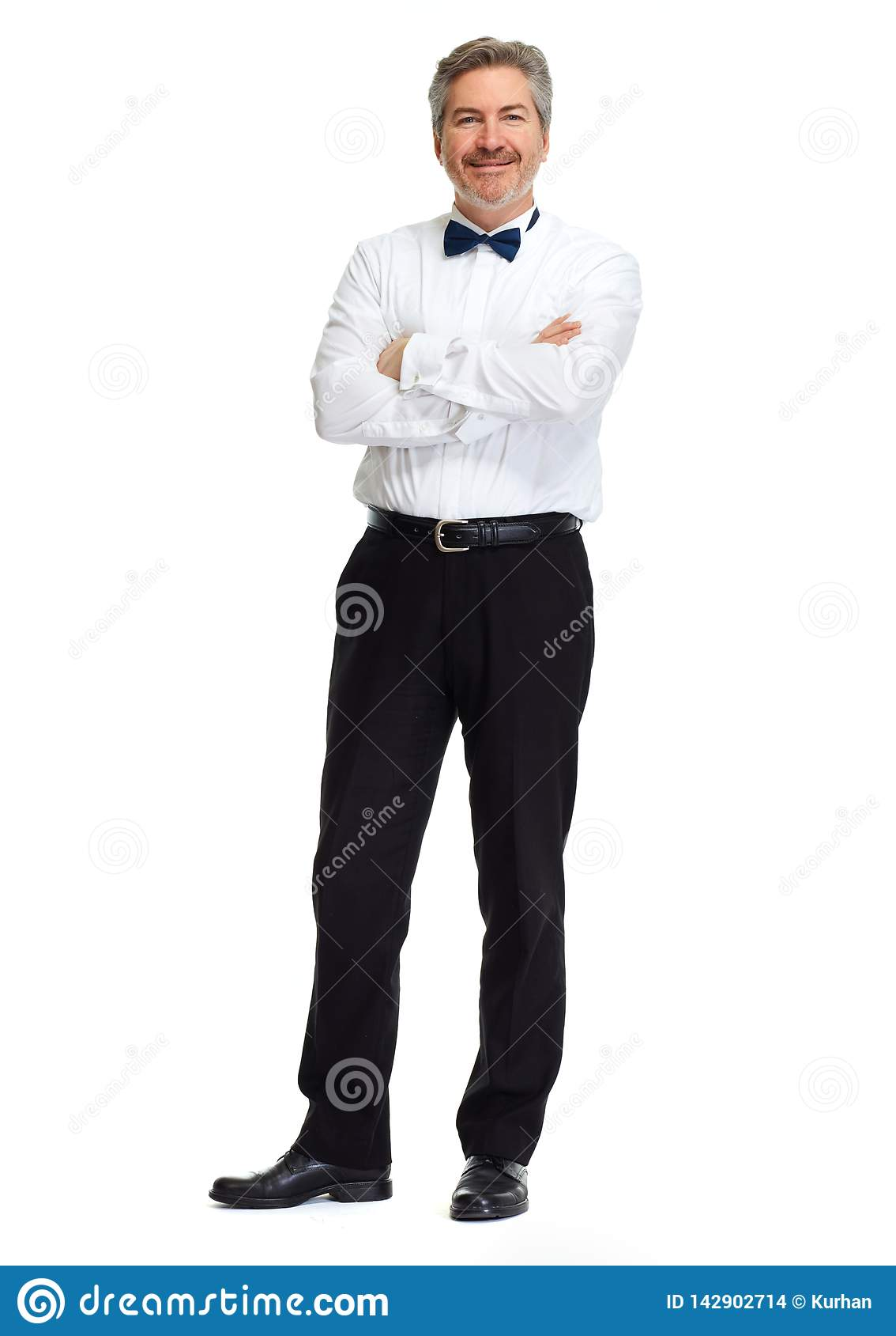 Homme d affaires sur le fond blanc