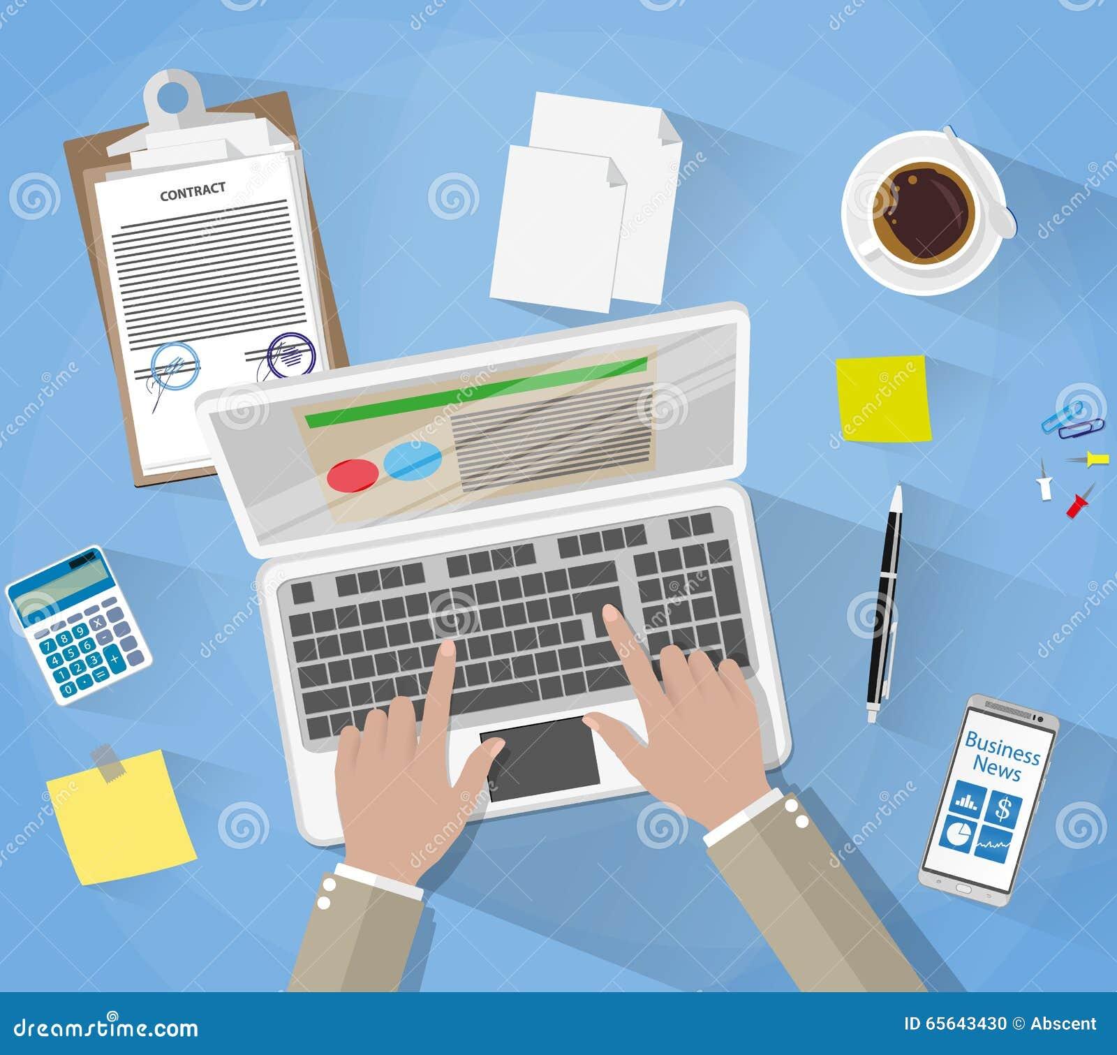 Homme d affaires Workplace Desk