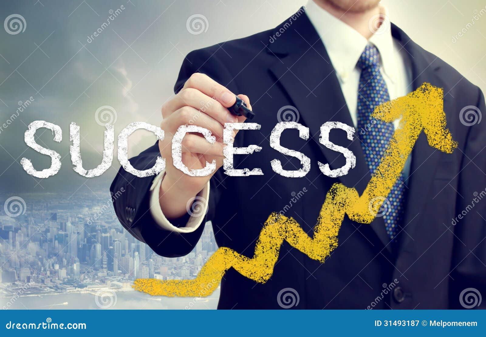 Homme d affaires Writing Success