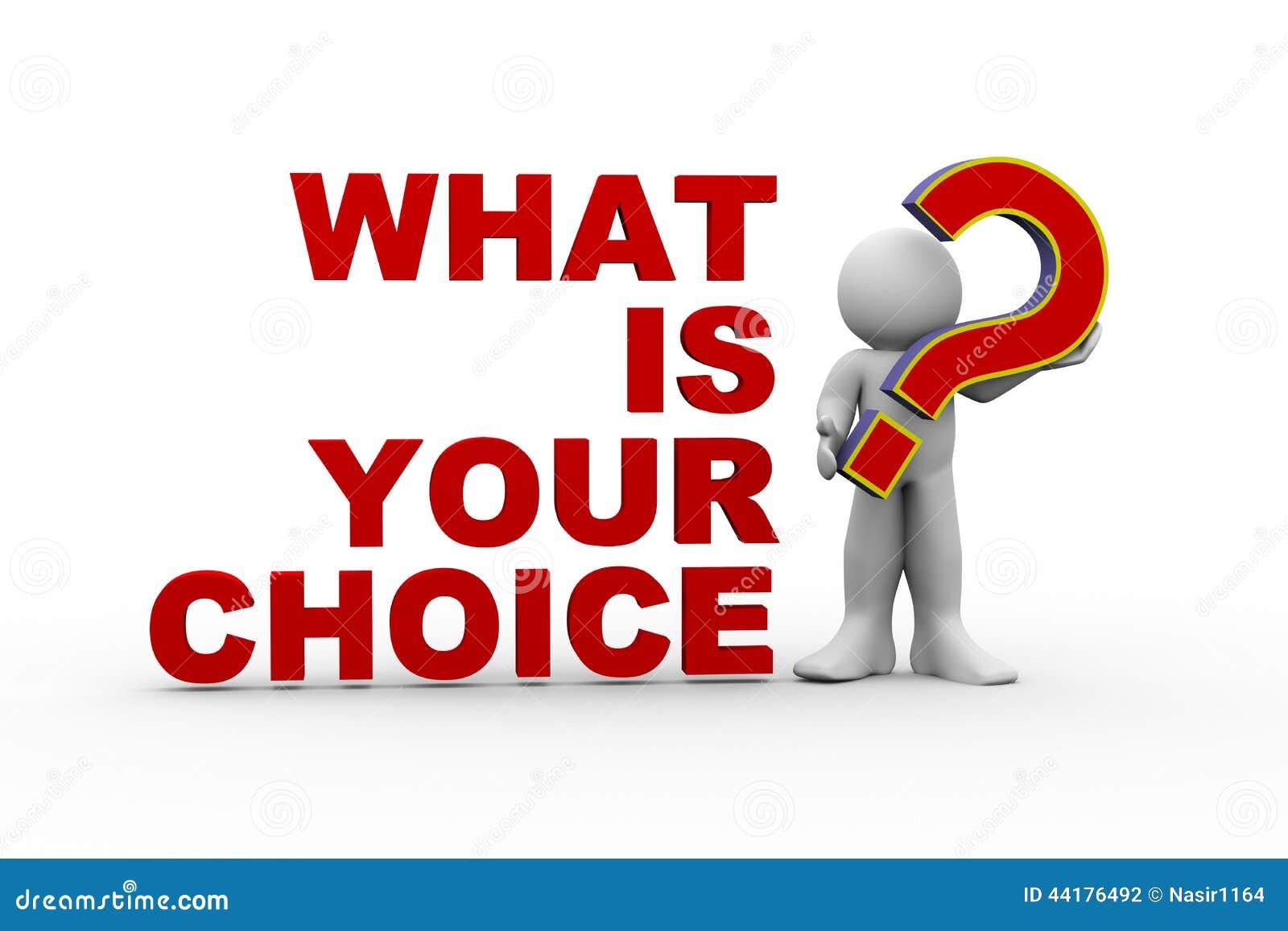 Homme 3d ce qui est votre choix