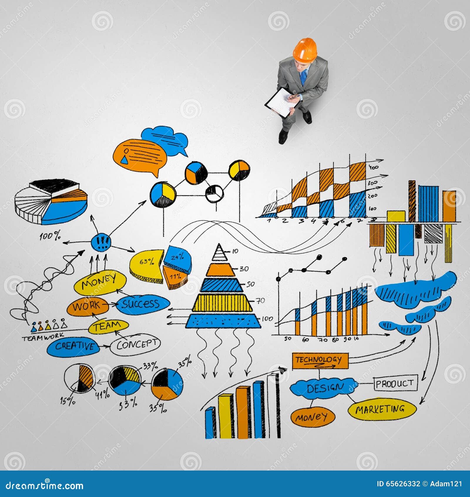 Homme d ingénieur et sa stratégie commerciale