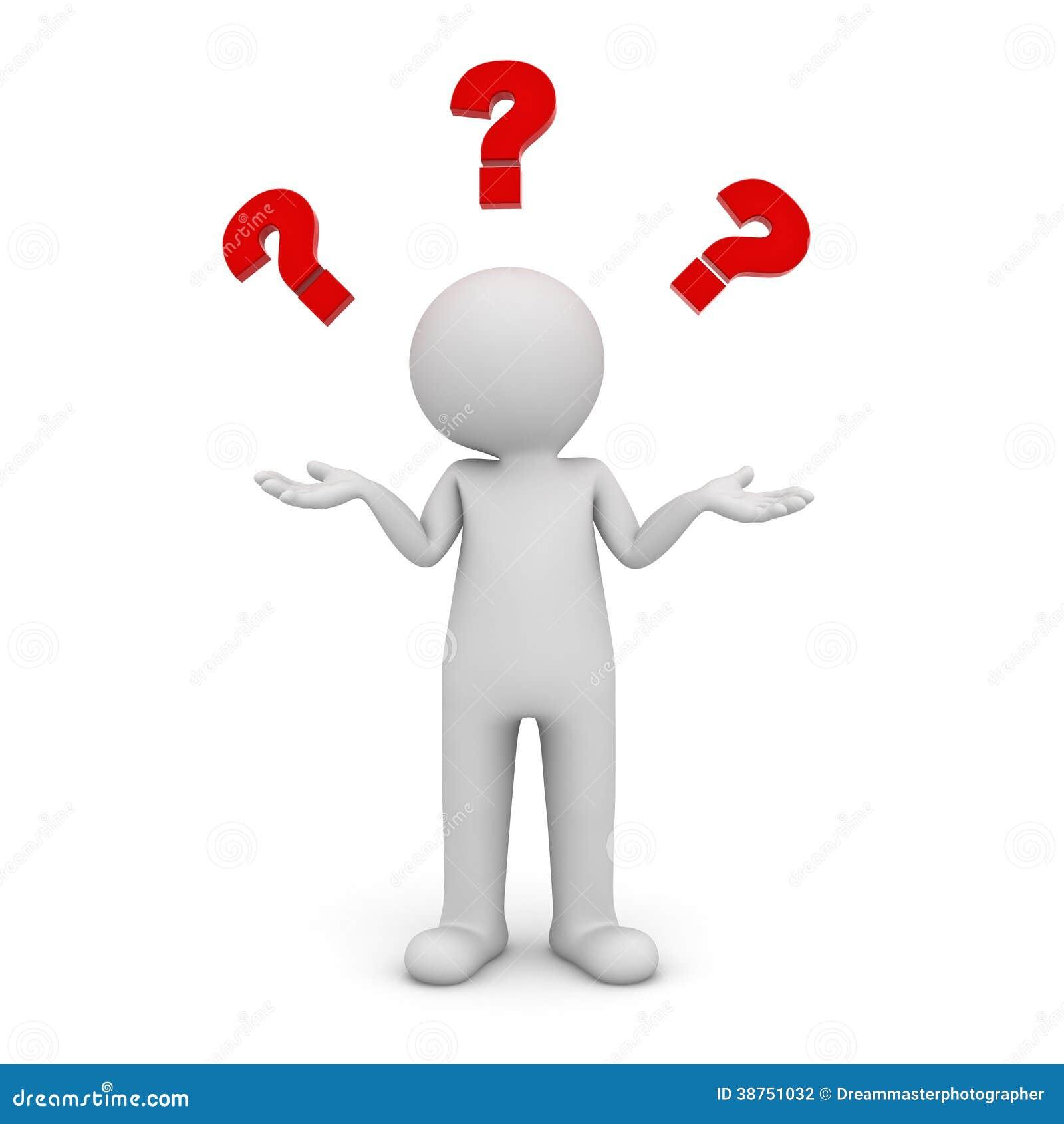 aucune idée Homme 3d Ne Tenant Et Ayant Aucune Idée Illustration Stock  aucune idée