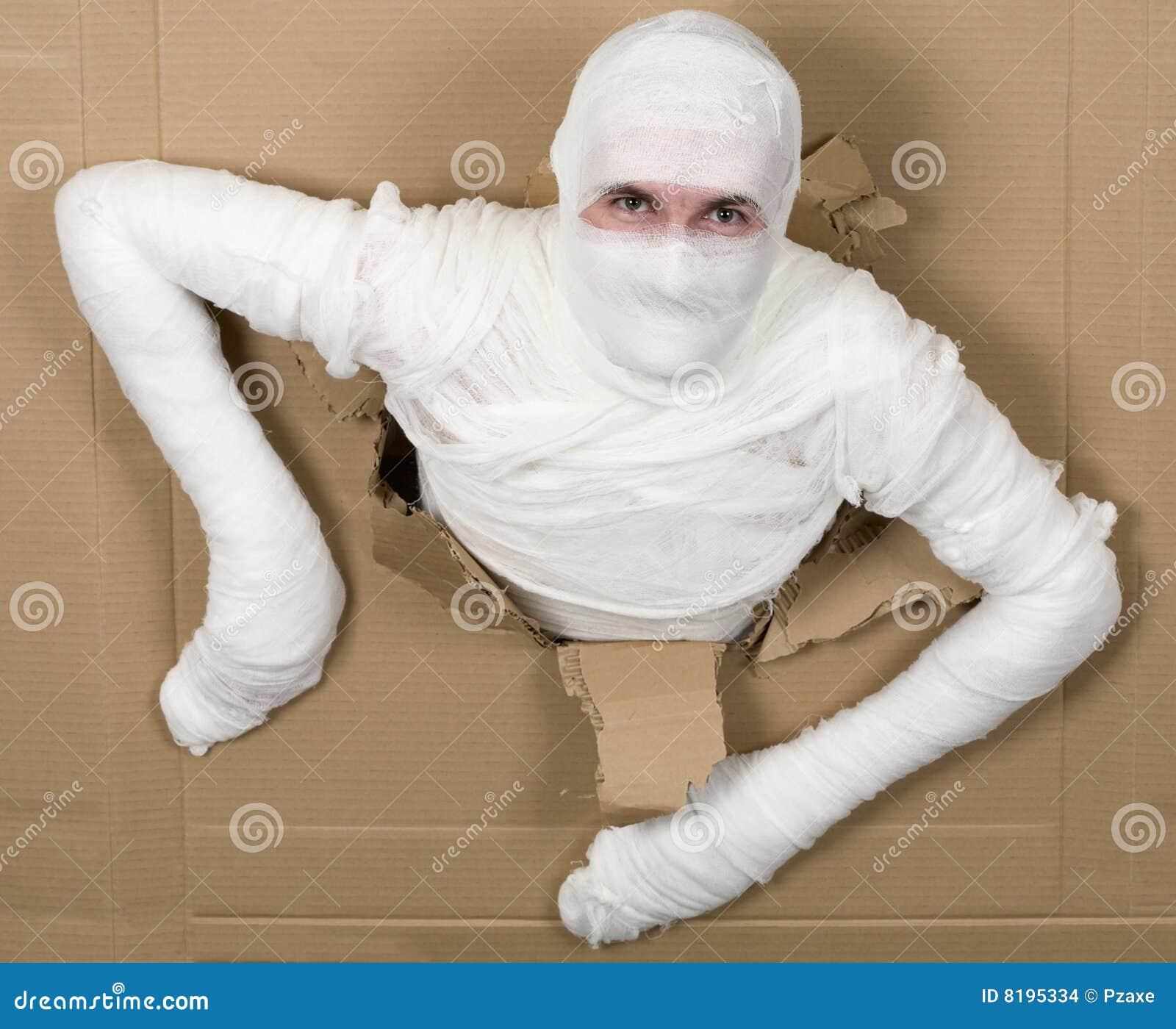 homme dans la momie de costume images stock image 8195334. Black Bedroom Furniture Sets. Home Design Ideas