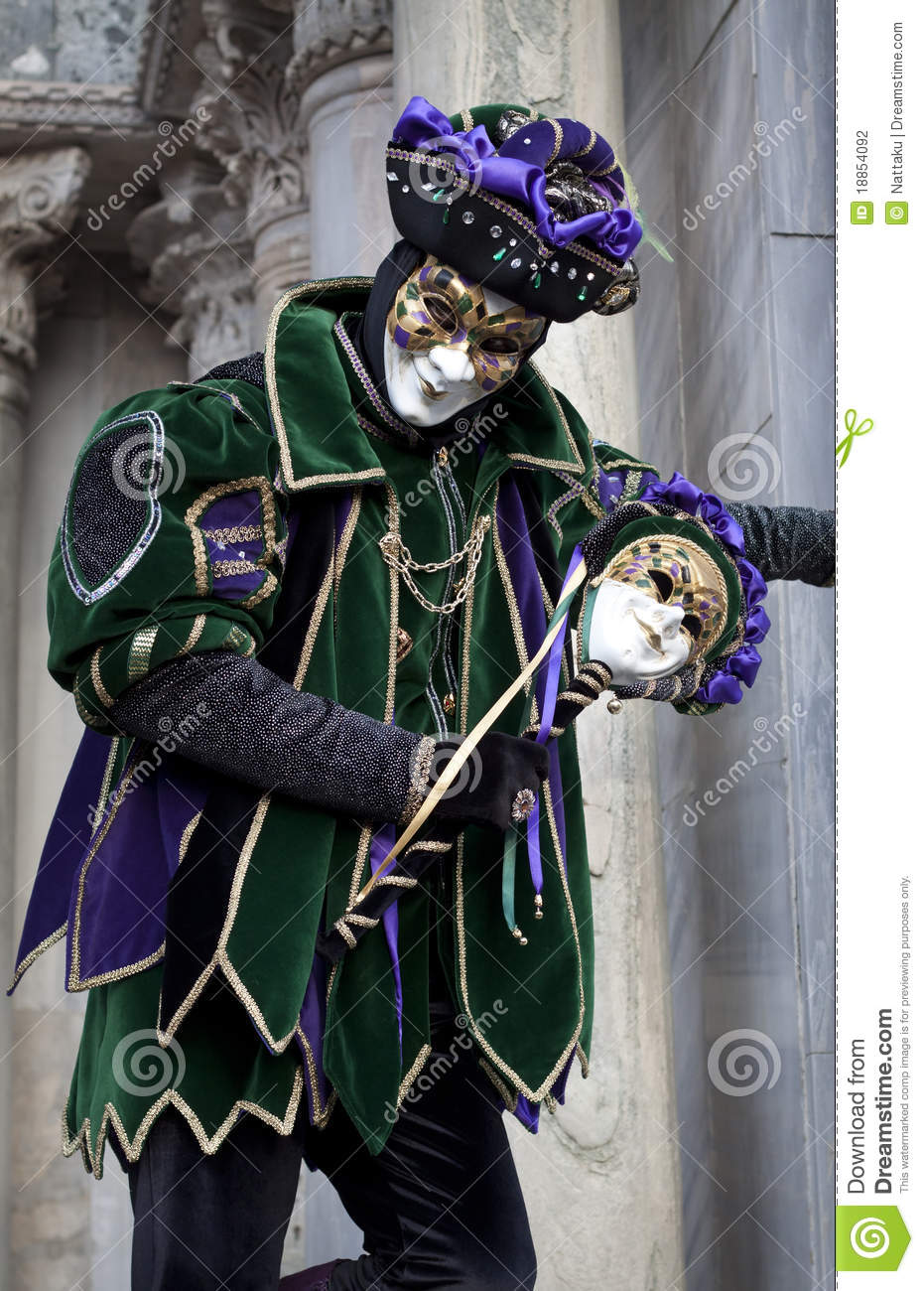 homme dans le costume de joker au carnaval 2011 de venise photographie ditorial image du. Black Bedroom Furniture Sets. Home Design Ideas