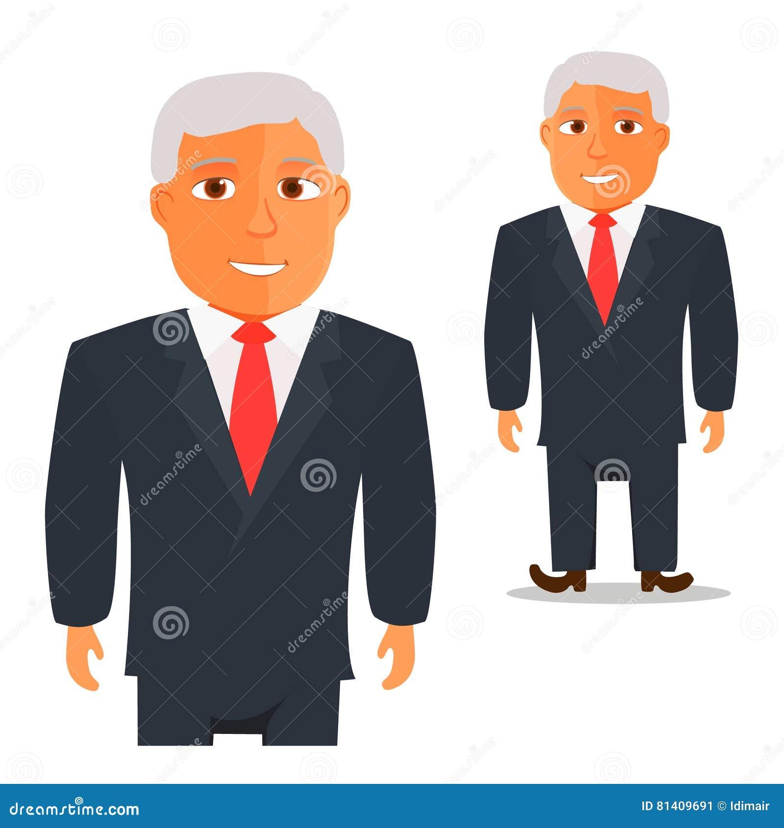 Homme dans le costume noir avec le personnage de dessin - Dessin costume ...