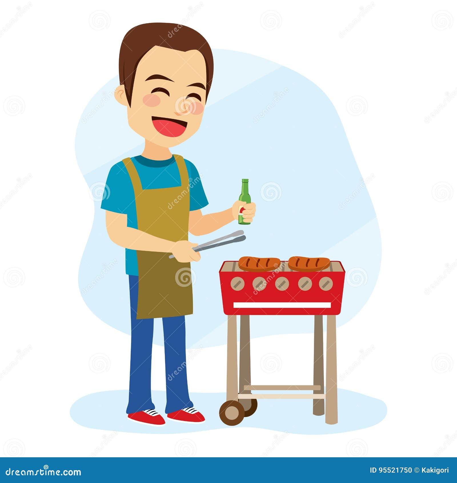 Homme de barbecue