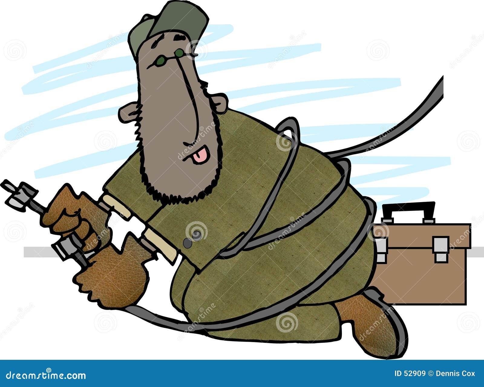 Download Homme de câble illustration stock. Illustration du amusement - 52909