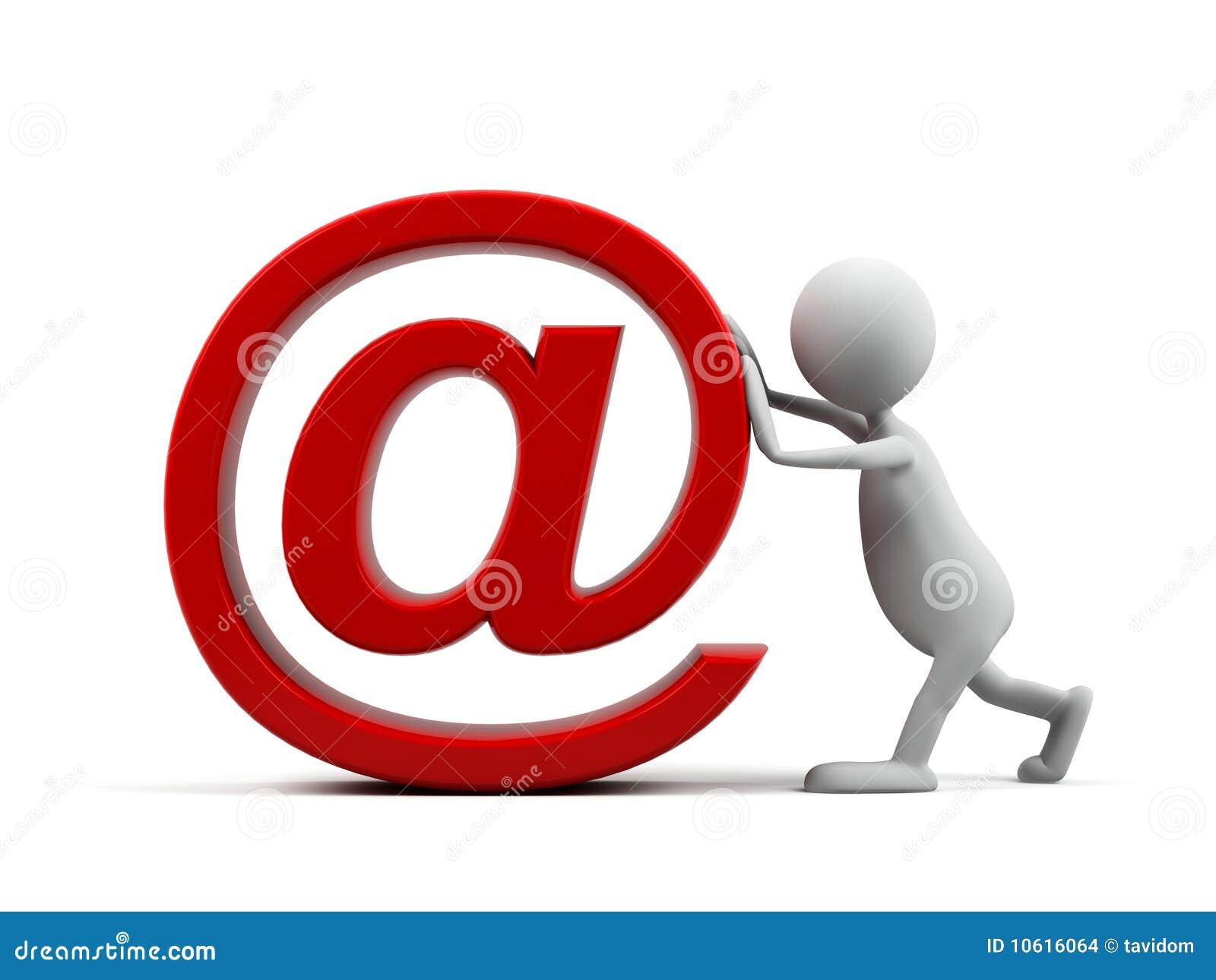 Homme de dessin anim avec le symbole d 39 email images stock image 1061 - Email de baignoire abime ...