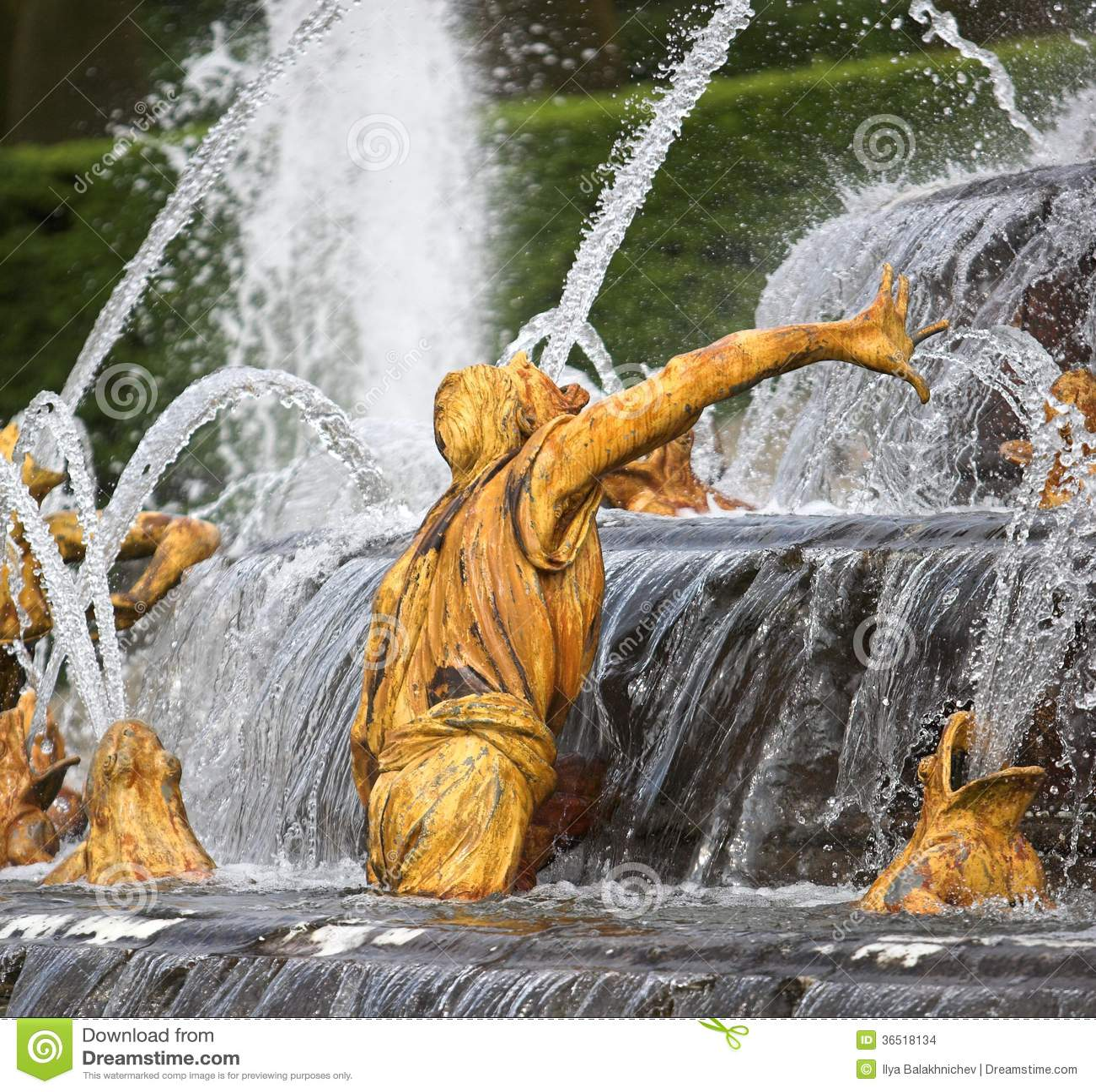 Homme de Frances de fontaine de Versailles